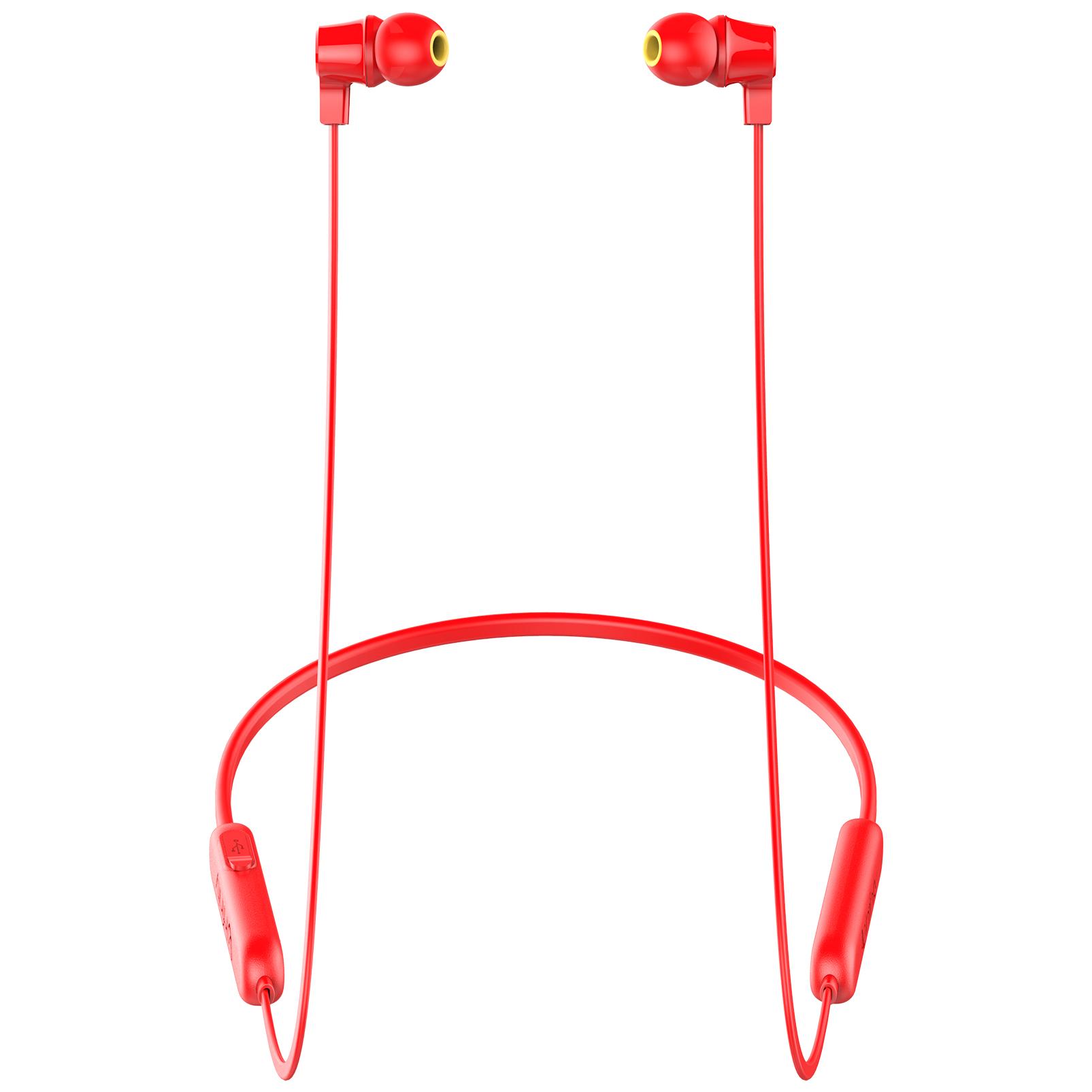 INFINITY GLIDE N100 - Red - In-Ear Ultra Light Neckband - Left
