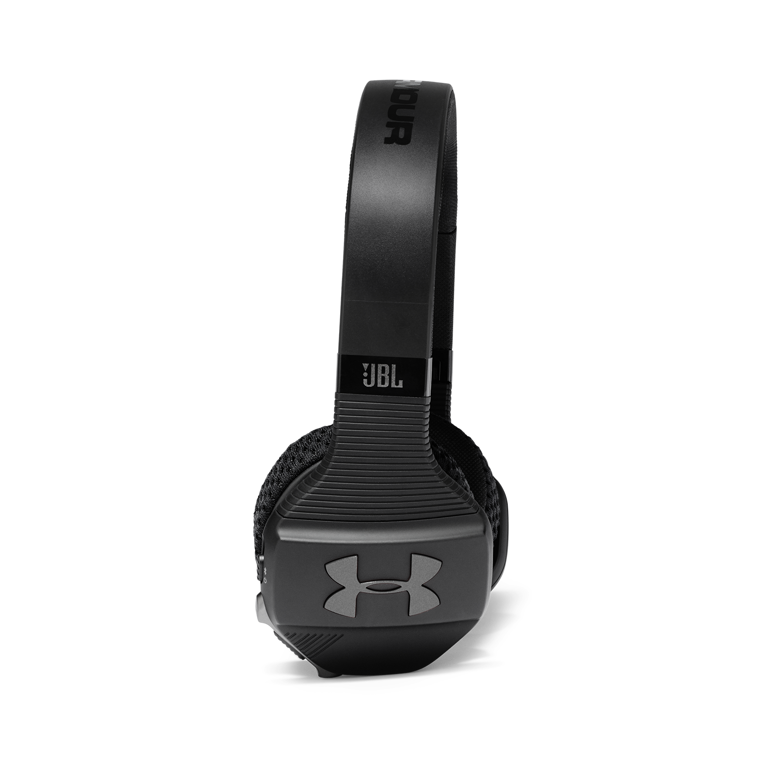 UA Sport Wireless Train – Engineered by JBL - Black - Wireless on-ear headphone built for the gym - Detailshot 1