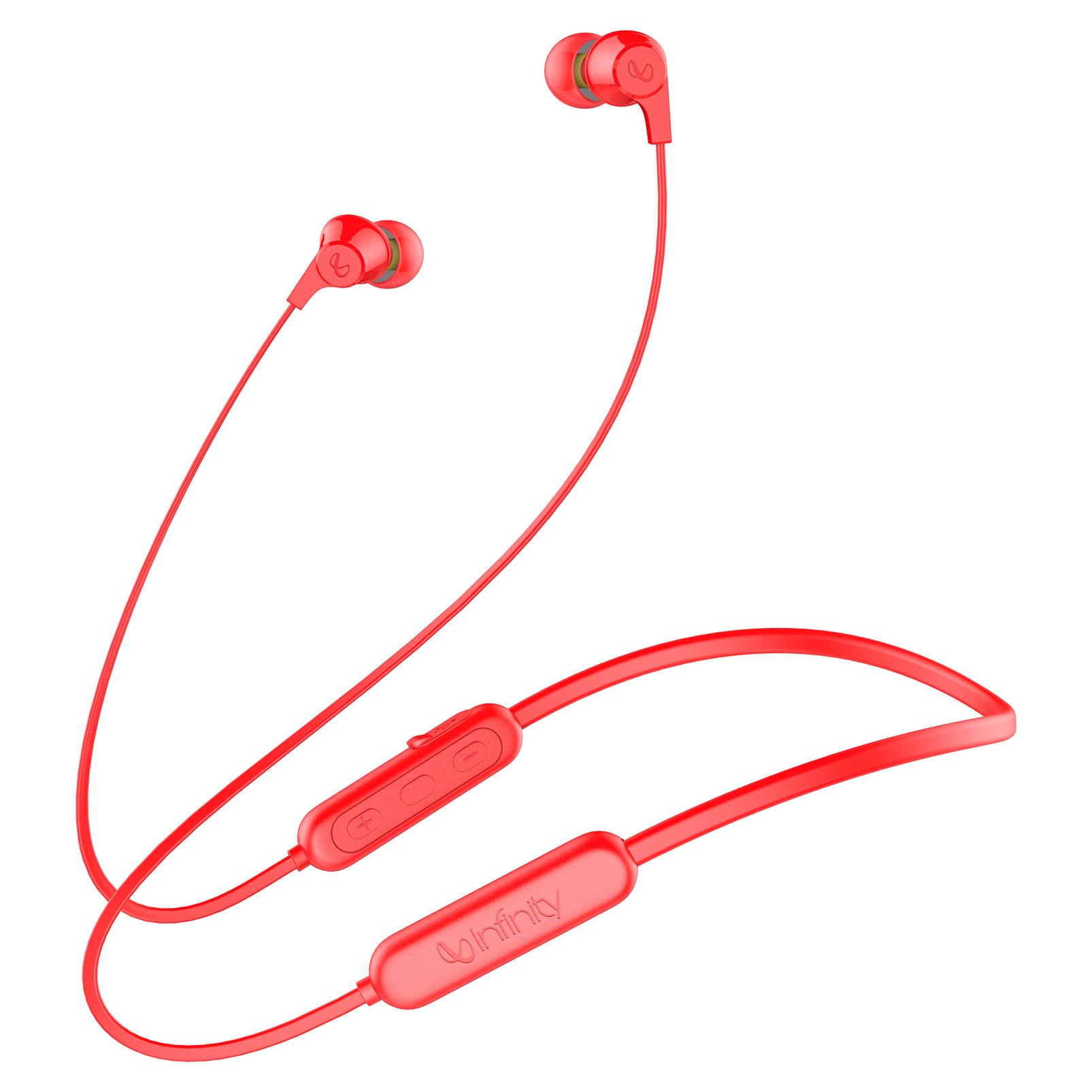 INFINITY GLIDE N100 - Red - In-Ear Ultra Light Neckband - Hero