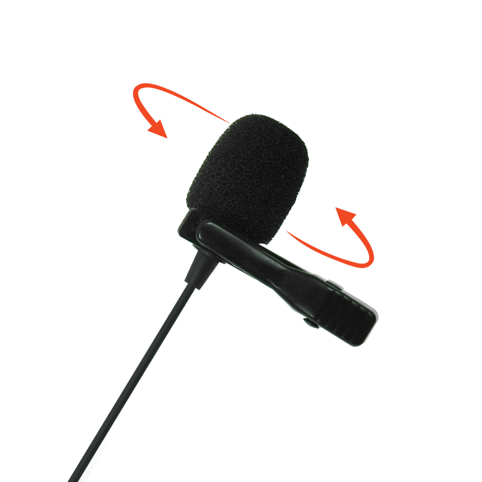 JBLCSLM20 - Black - Lavalier Microphone with Earphone - Detailshot 2