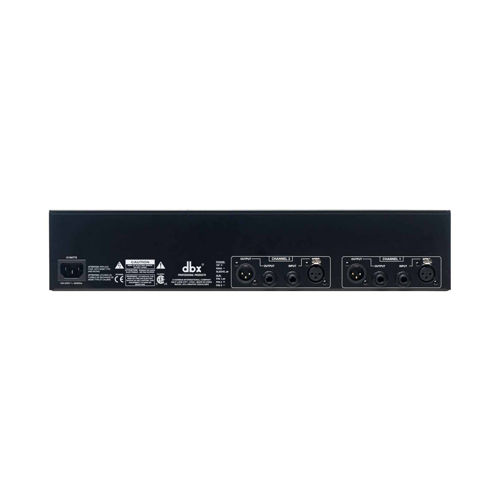 231s - White - Dual channel 31-band equalizer - Back
