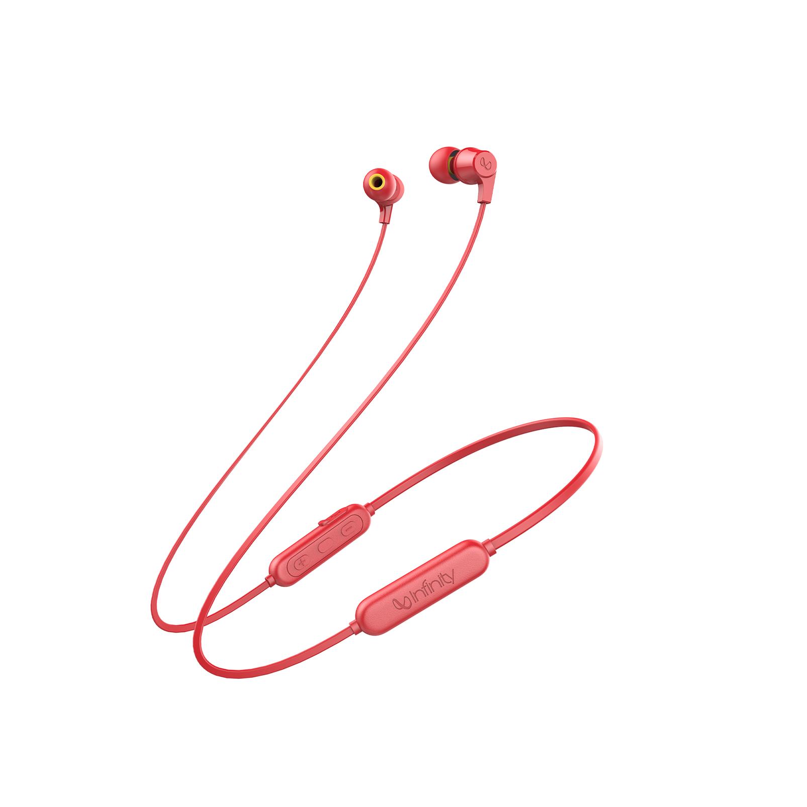 INFINITY GLIDE 100 - Red - In-Ear Wireless Headphones - Hero