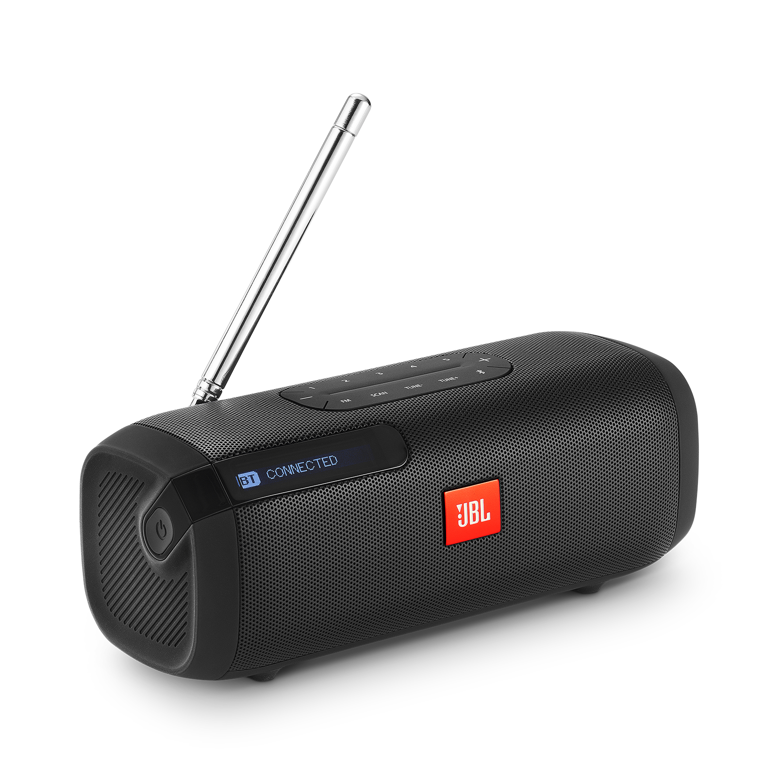 JBL Tuner FM - Black - Portable Bluetooth Speaker with FM radio - Hero