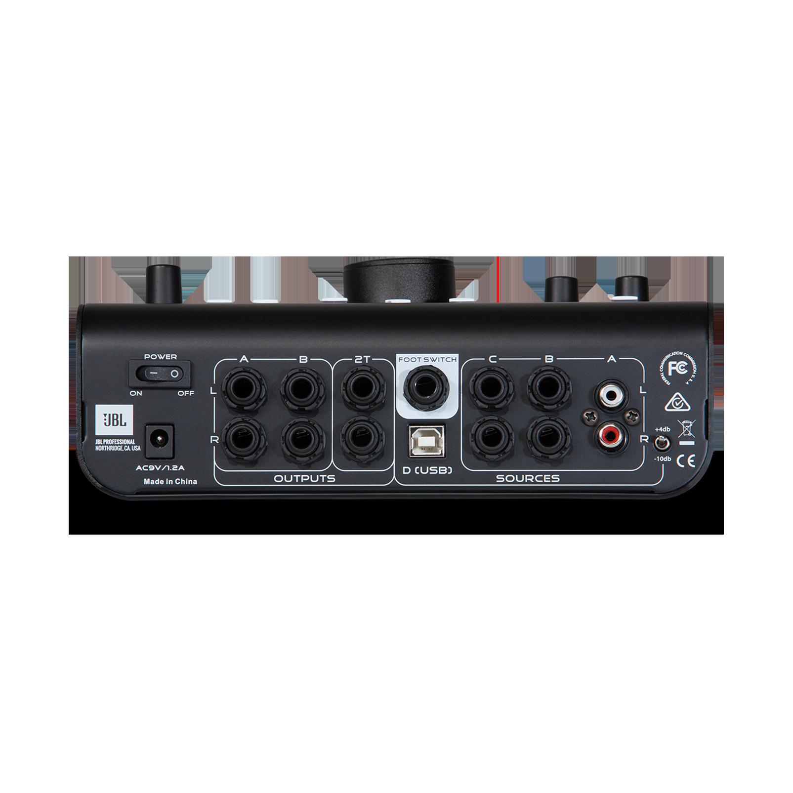 JBL M-Patch Active-1 - Black - Precision Monitor Control Plus Studio Talkback and USB Audio I/O - Back