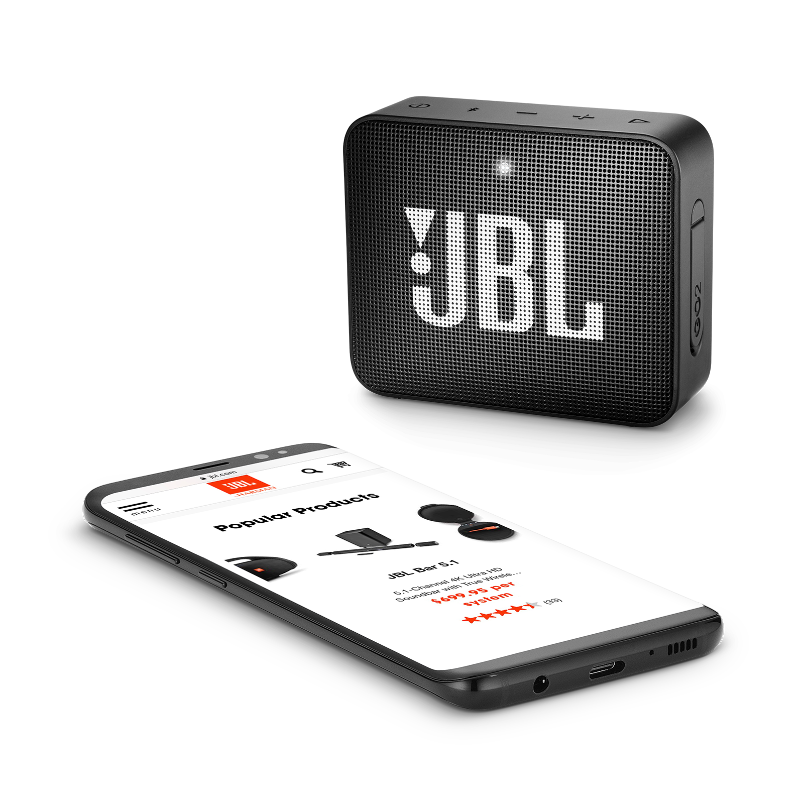 Jbl Go 2 Portable Bluetooth Speaker Harman Kardon Play Plus Pay Original