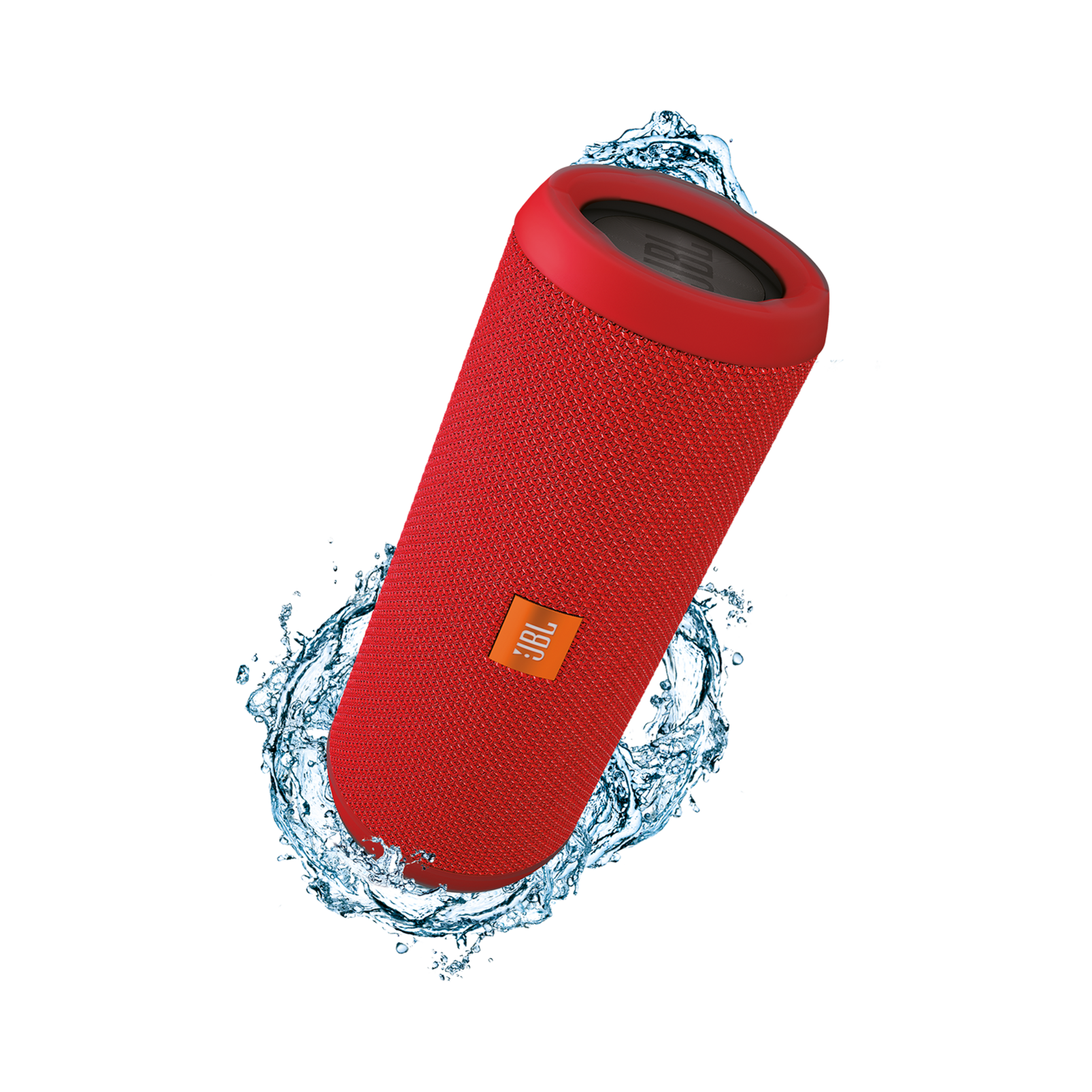 JBL Flip 3 - Red - Splashproof portable Bluetooth speaker with powerful sound and speakerphone technology - Hero