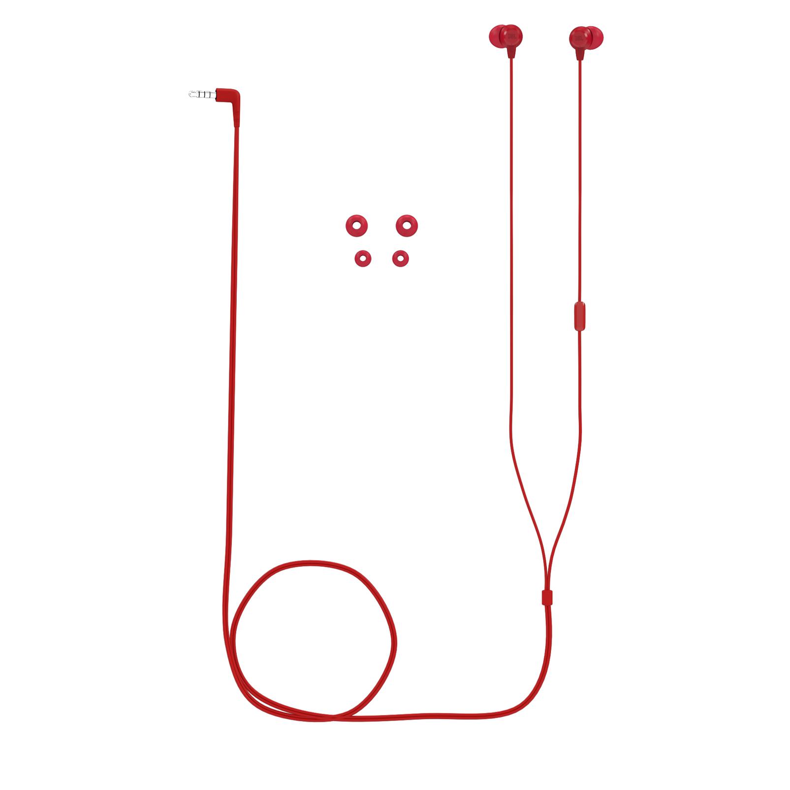 JBL T50HI - Red - In-Ear Headphones - Detailshot 3