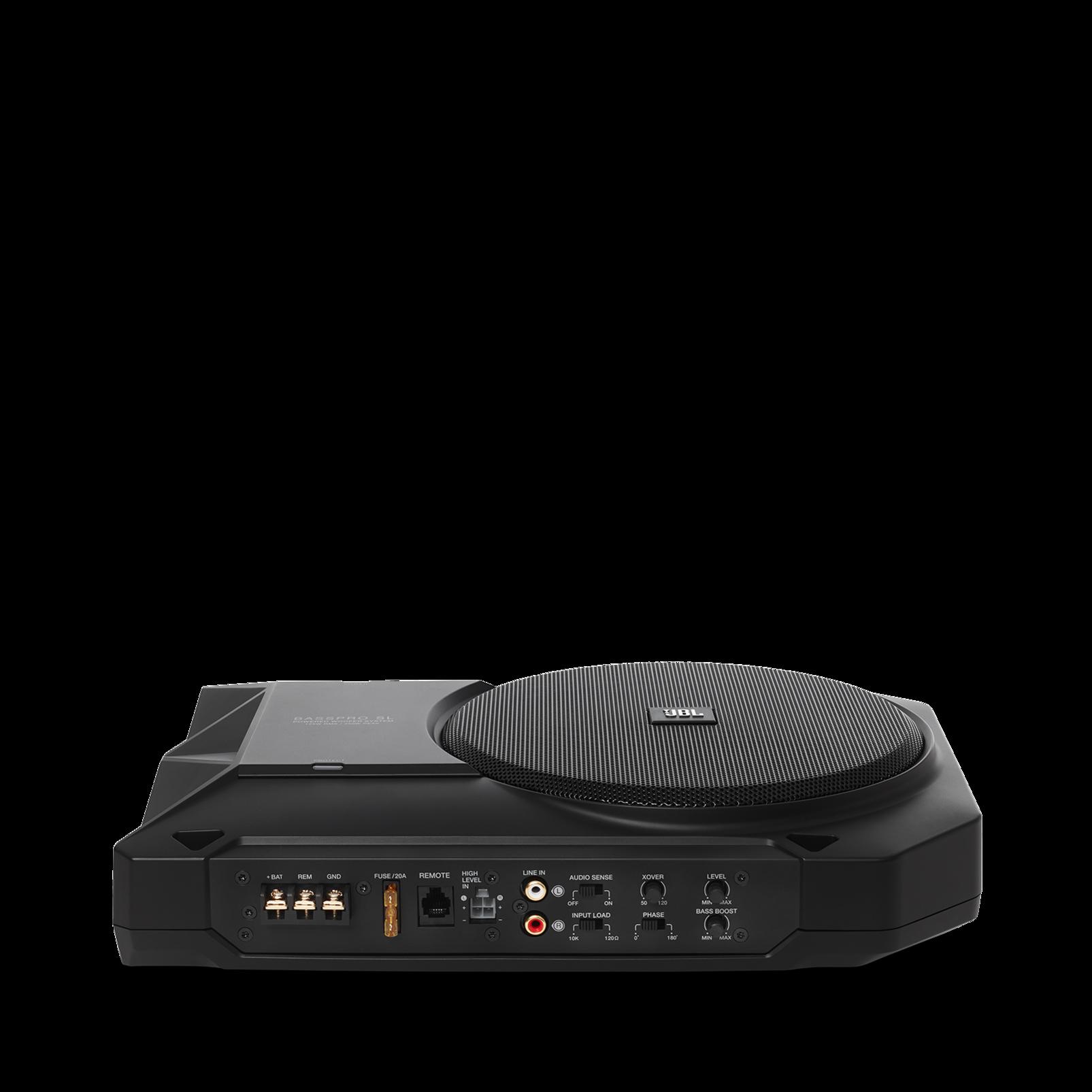 "BassPro SL - Black - Powered, 8"" (200mm) car audio under seat woofer system - Detailshot 10"