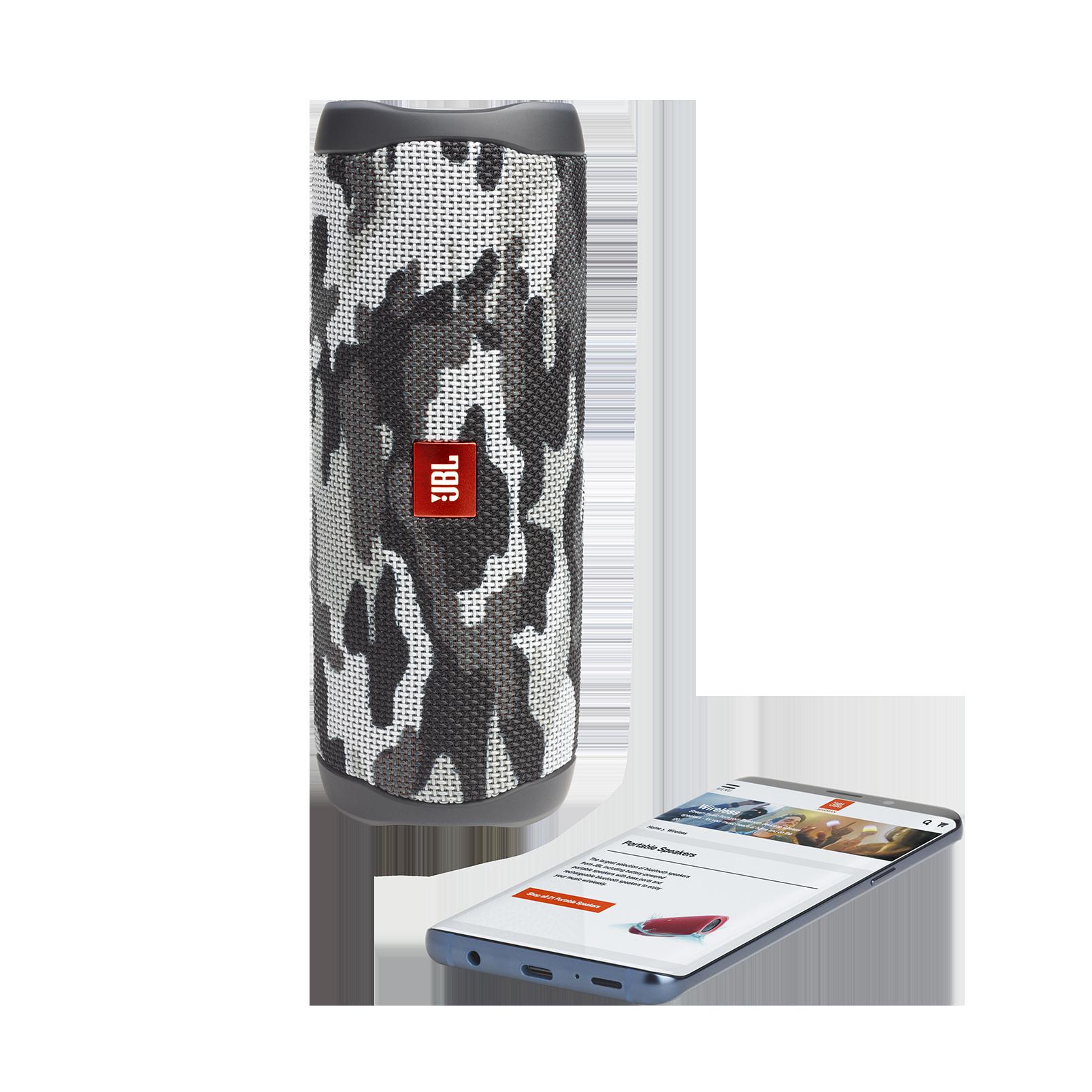 JBL FLIP 5 - Black Camo - Portable Waterproof Speaker - Front