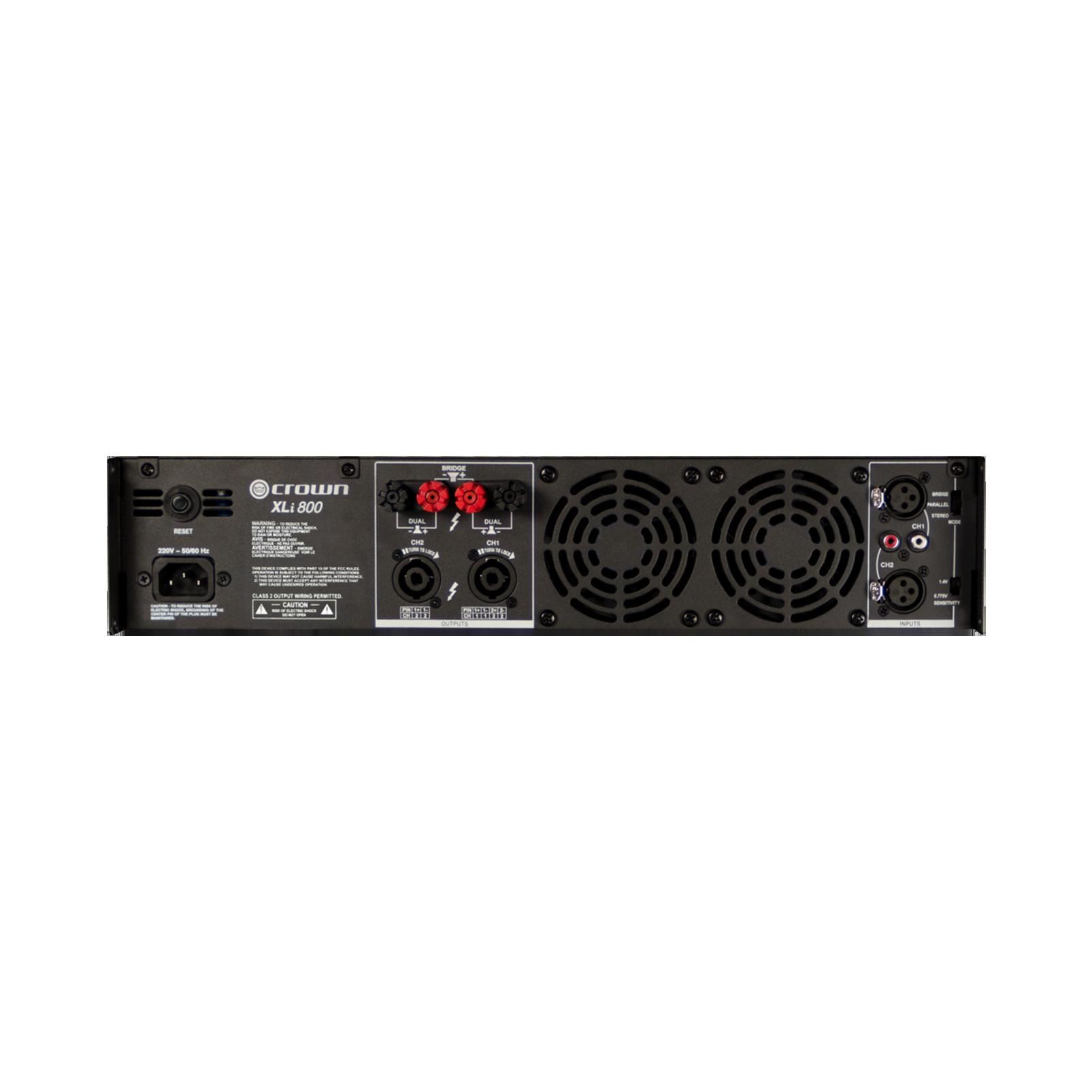 XLi 800 - Grey - Two-channel, 300W @ 4Ω power amplifier - Back