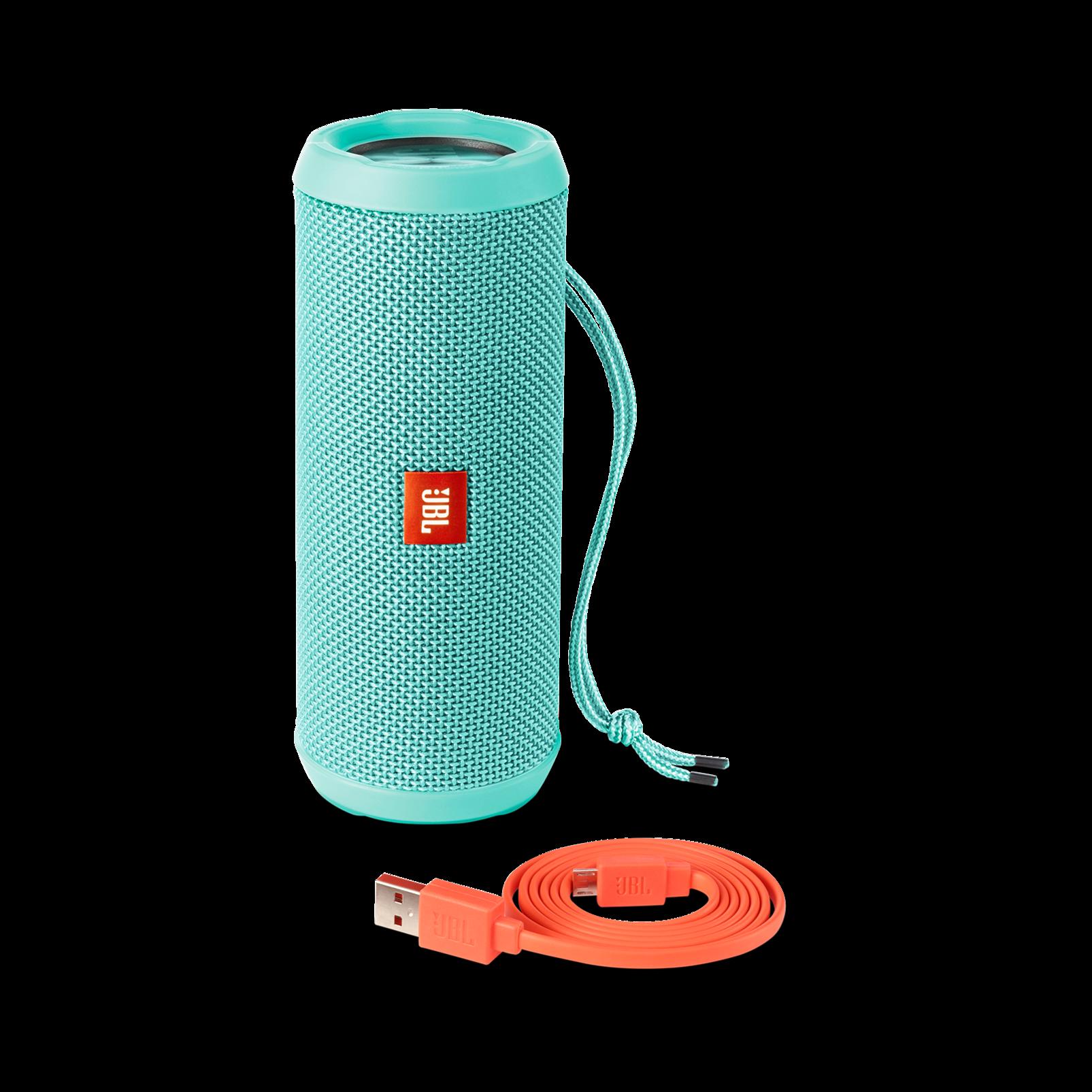 JBL Flip 3 - Teal - Splashproof portable Bluetooth speaker with powerful sound and speakerphone technology - Detailshot 4