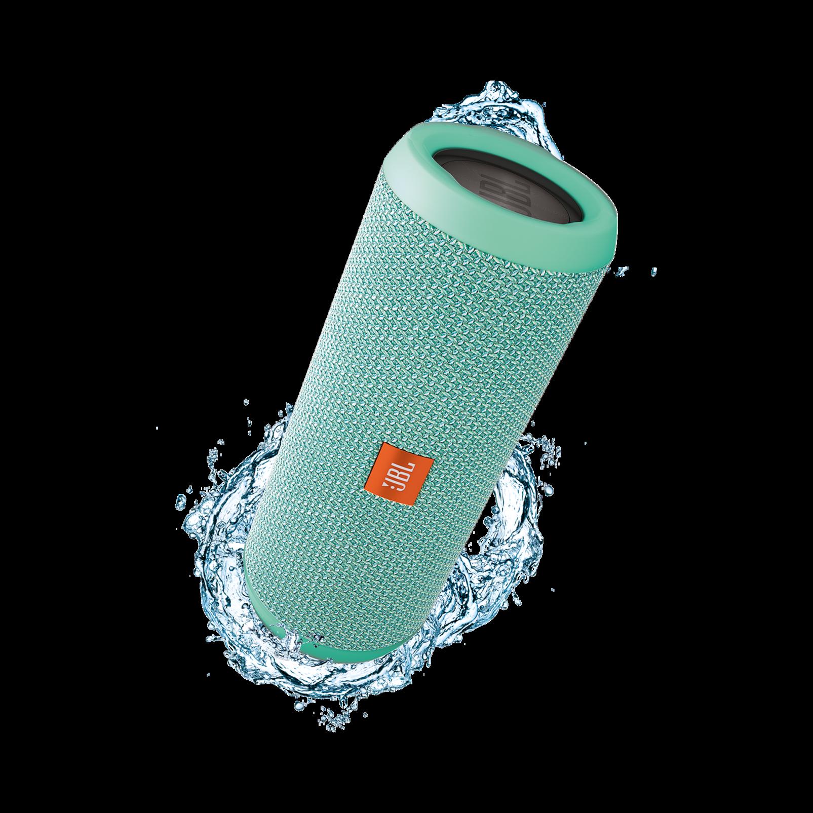 JBL Flip 3 - Teal - Splashproof portable Bluetooth speaker with powerful sound and speakerphone technology - Hero