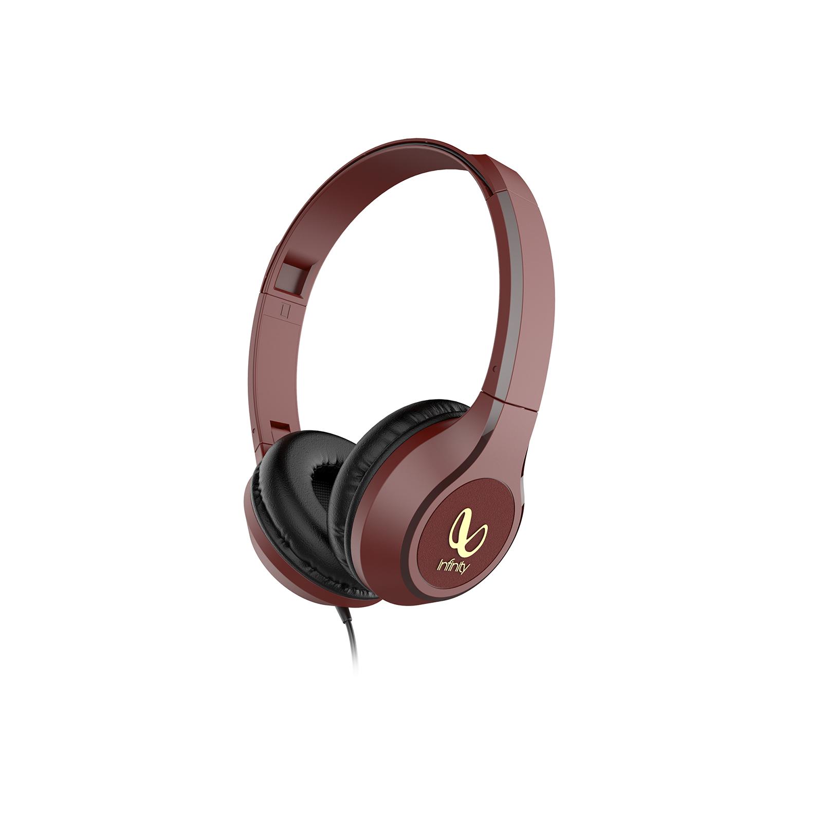 INFINITY ZIP 500 - Red - On-Ear Wired Headphones - Hero