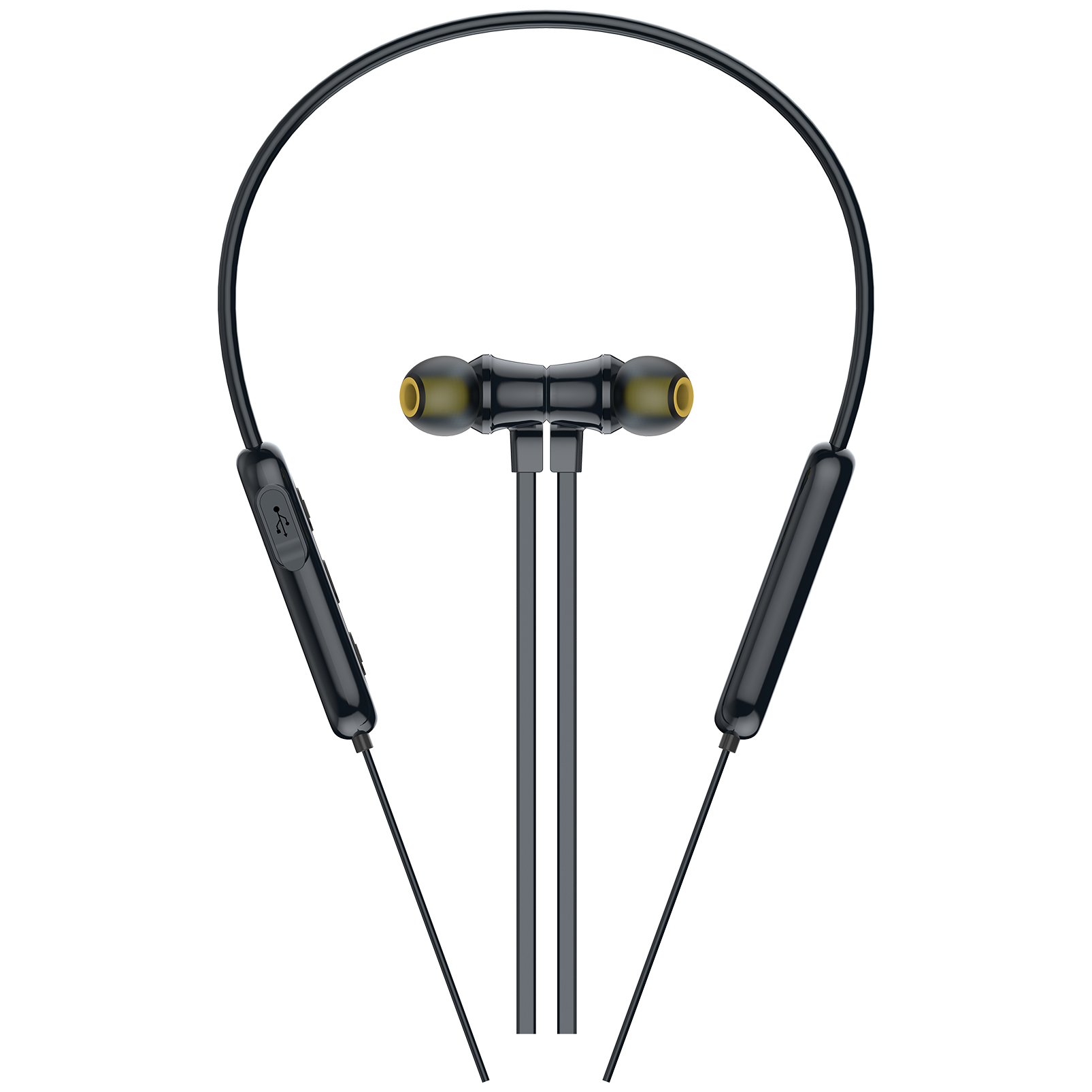 INFINITY GLIDE N100 - Black - In-Ear Ultra Light Neckband - Left