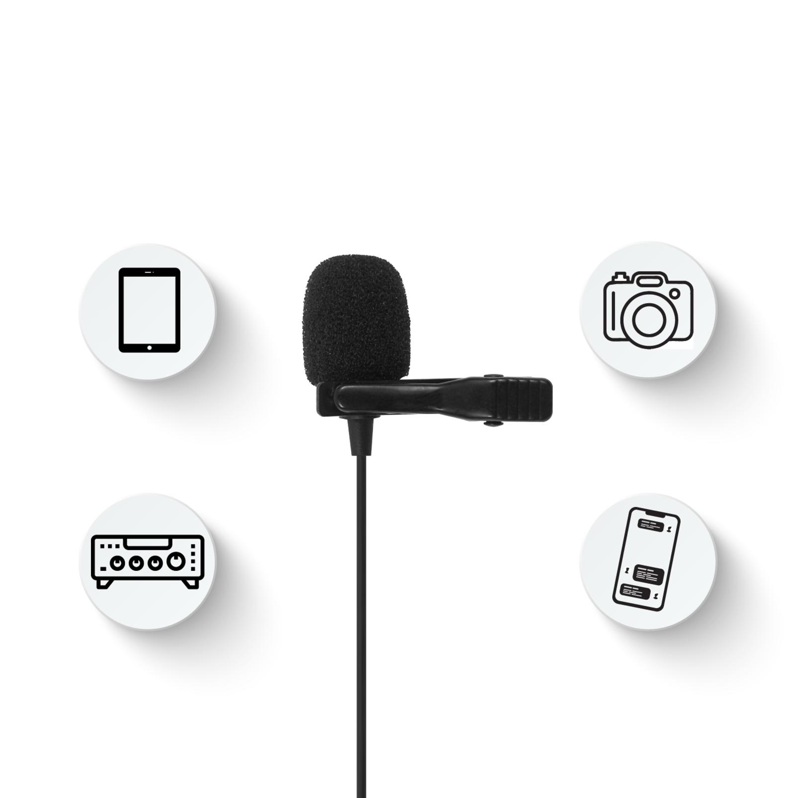 JBLCSLM20B - Black - Battery-Powered Lavalier Microphone - Detailshot 2