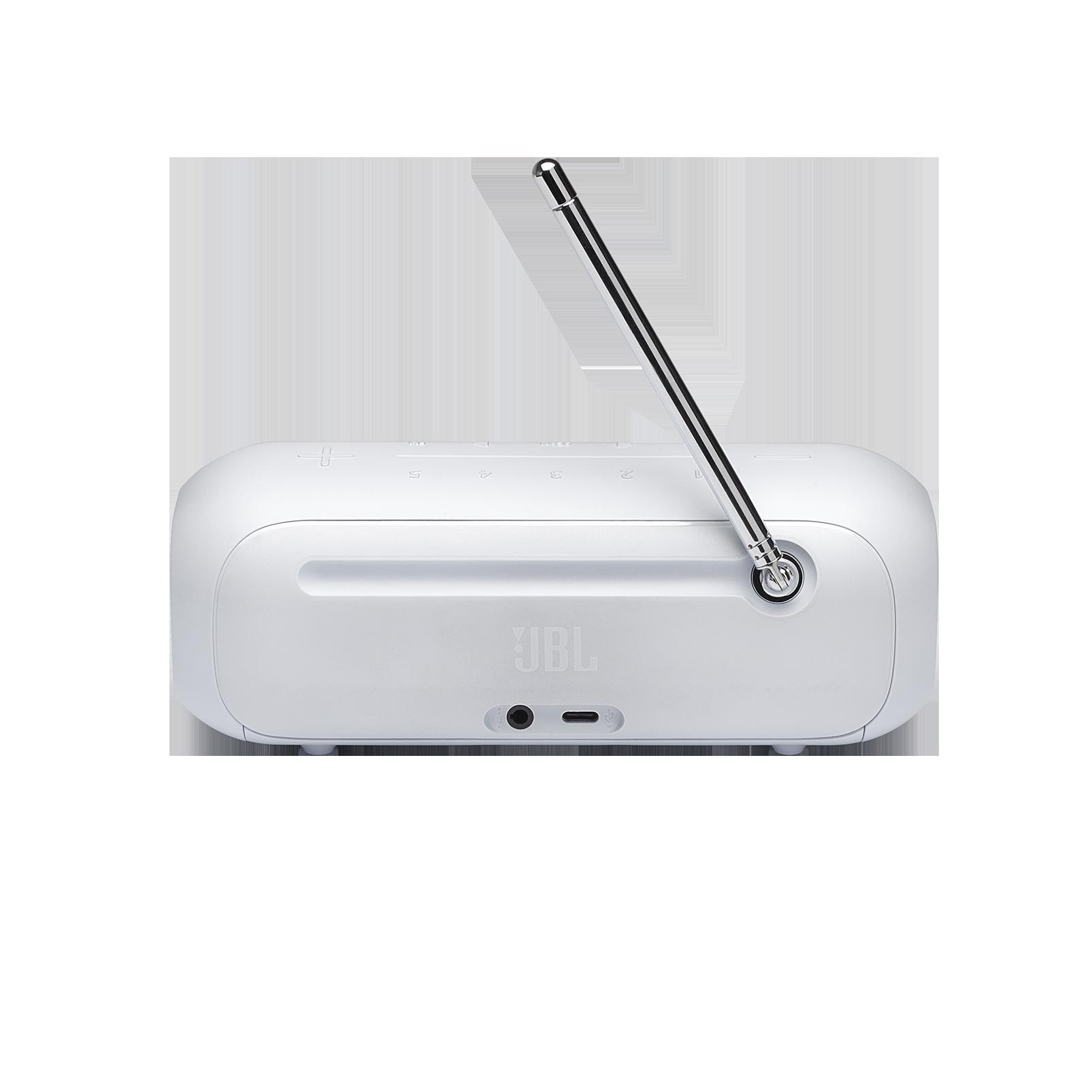 JBL Tuner 2 FM - White - Portable FM radio with Bluetooth - Back
