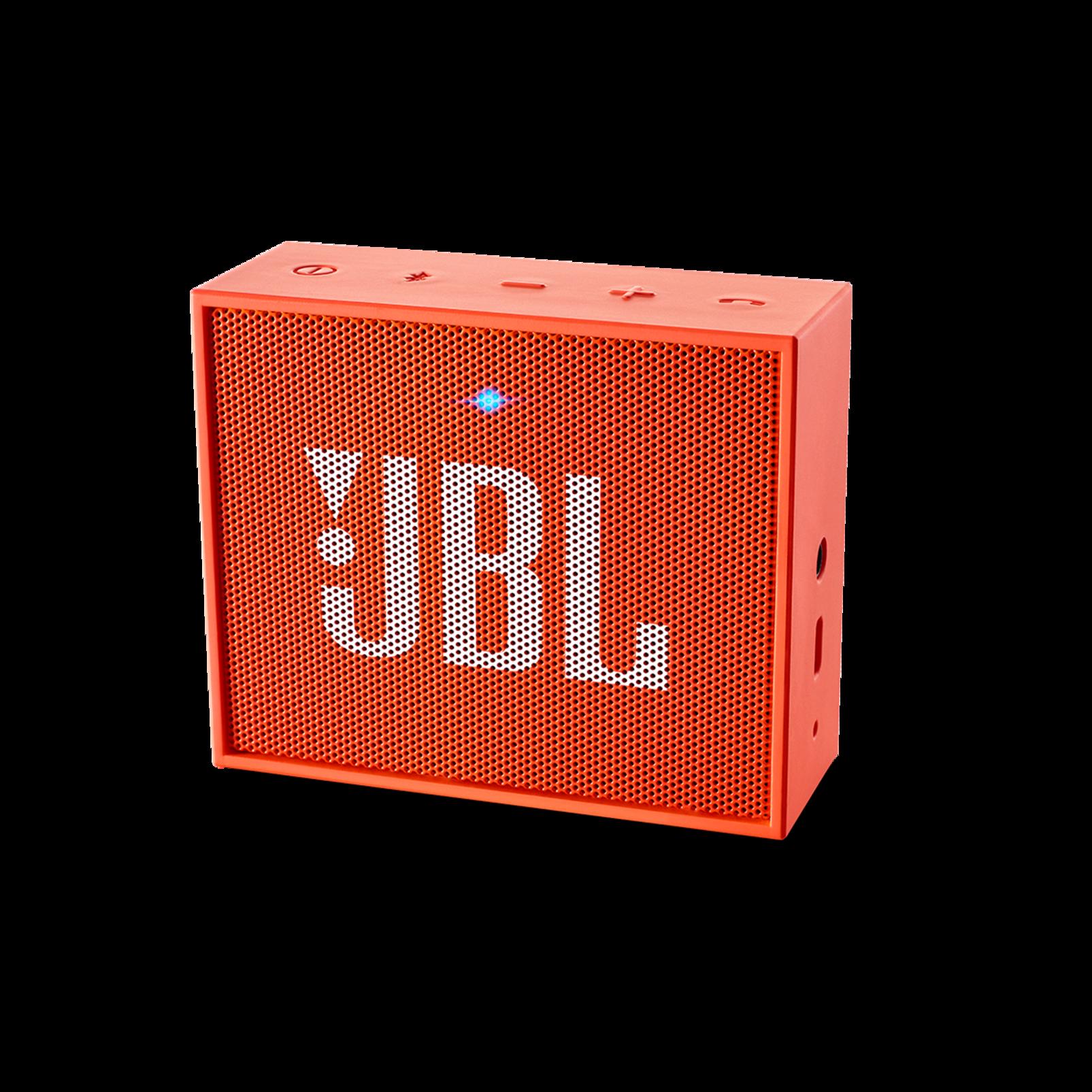 JBL GO - Orange - Full-featured, great-sounding, great-value portable speaker - Hero