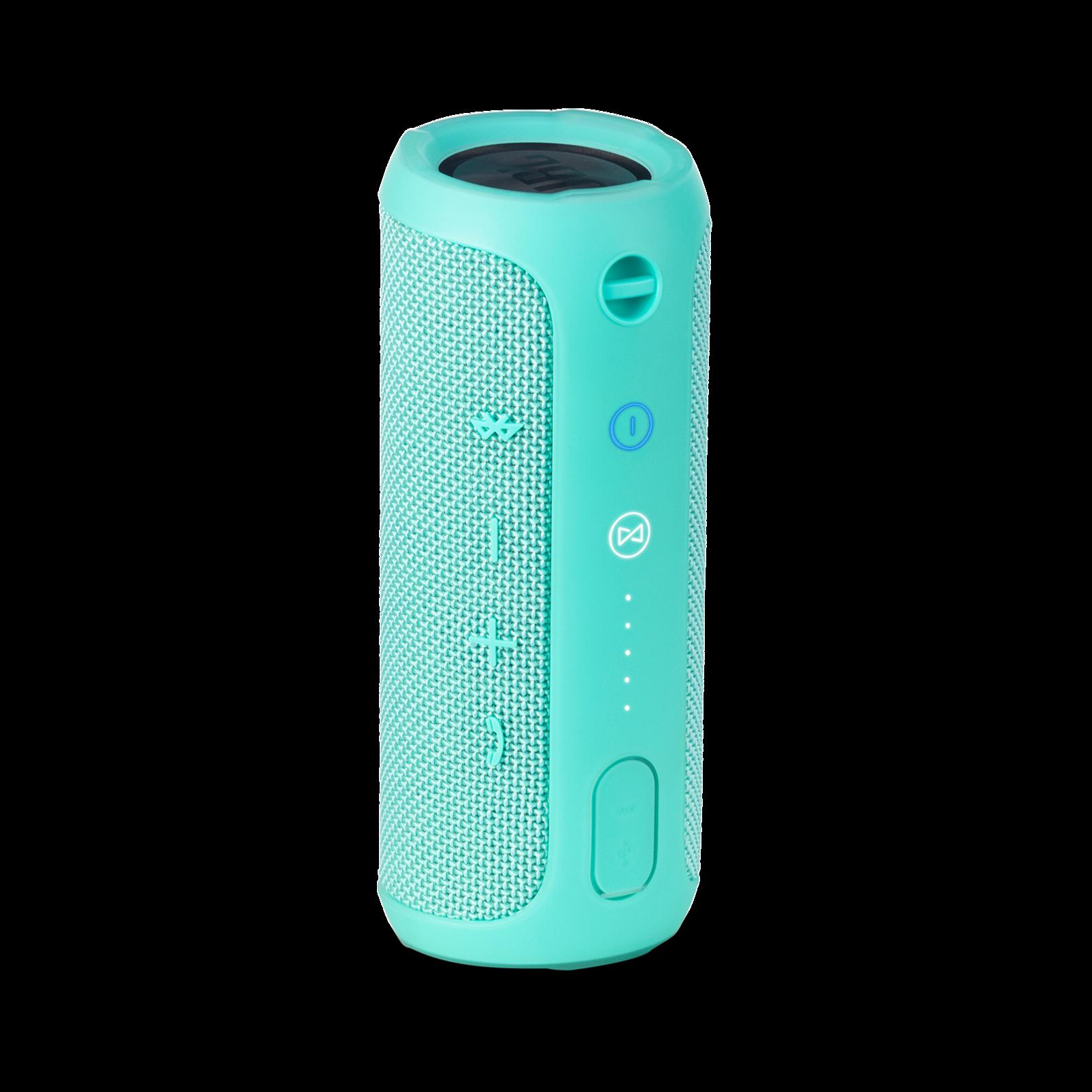 JBL Flip 3 - Teal - Splashproof portable Bluetooth speaker with powerful sound and speakerphone technology - Back
