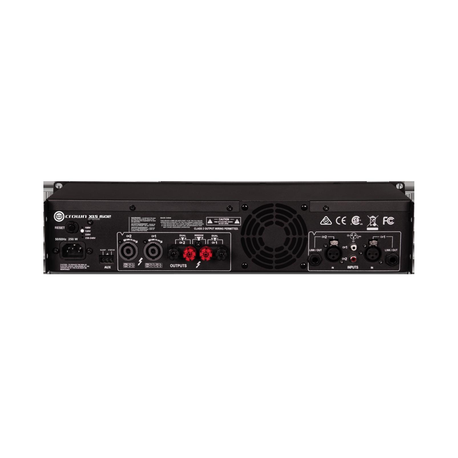 XLS 1502 - Black - Two-channel, 525W @ 4Ω power amplifier - Back