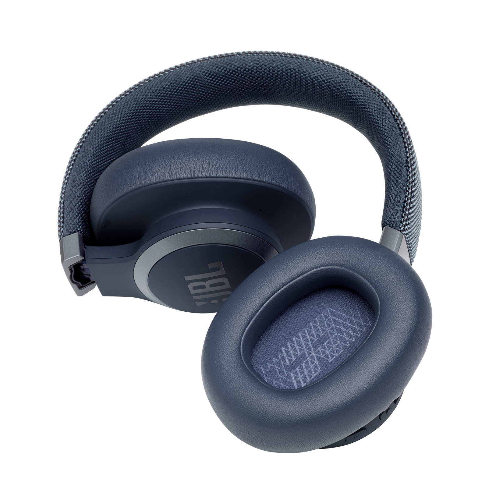 JBL LIVE 650BTNC - Blue - Wireless Over-Ear Noise-Cancelling Headphones - Detailshot 7