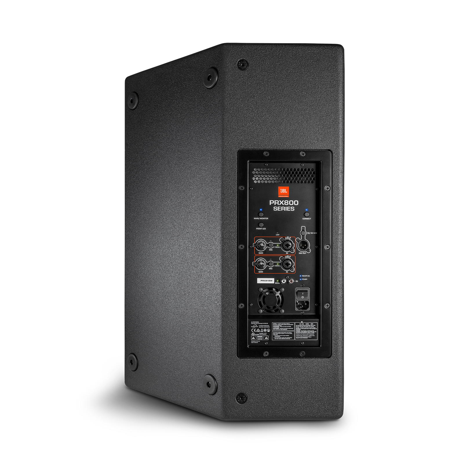 """JBL PRX815 - Black - 15"""" Two-Way Full-Range Main System/Floor Monitor with Wi-Fi - Back"""