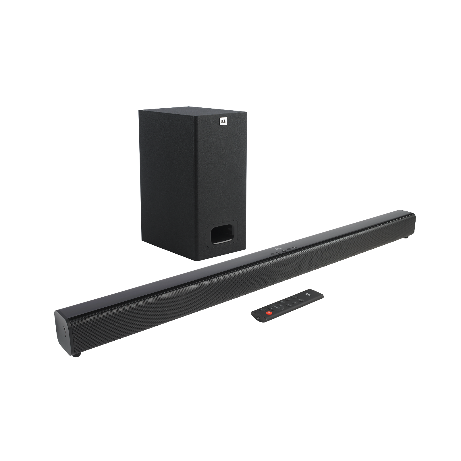 JBL Cinema SB230 - Black - 2.1 Channel Soundbar with Wired Subwoofer - Hero