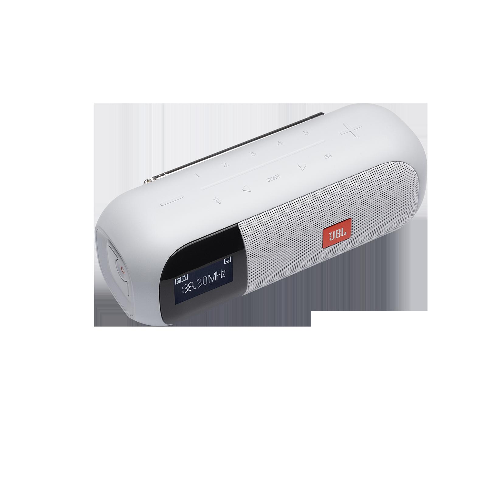JBL Tuner 2 FM - White - Portable FM radio with Bluetooth - Detailshot 3