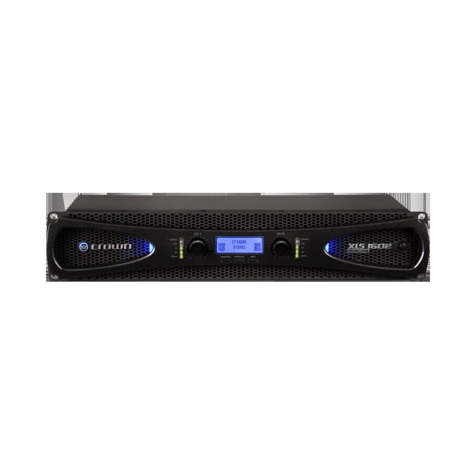 XLS 1502 - Black - Two-channel, 525W @ 4Ω power amplifier - Hero