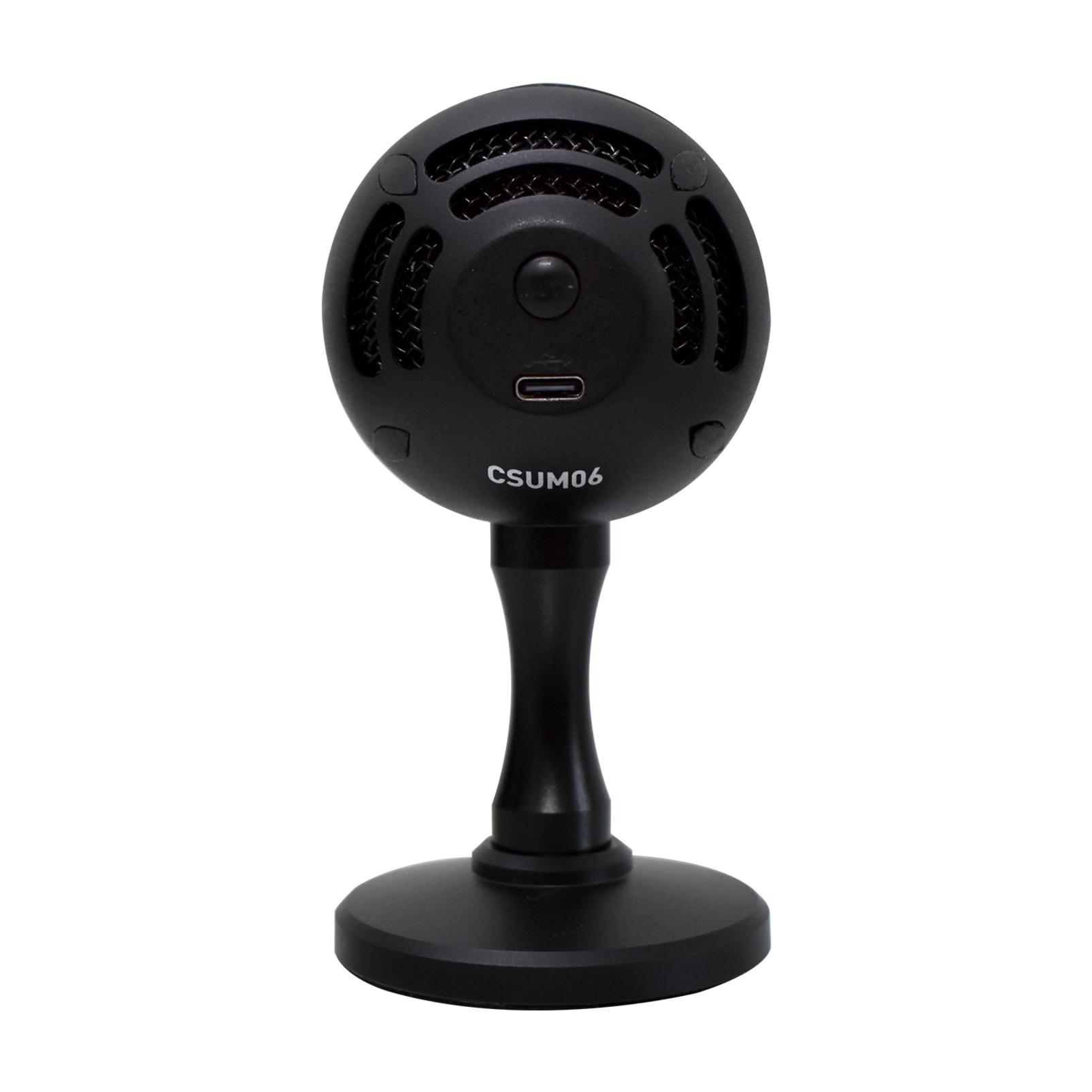 CSUM06 - Black - Mini USB Microphone - Back