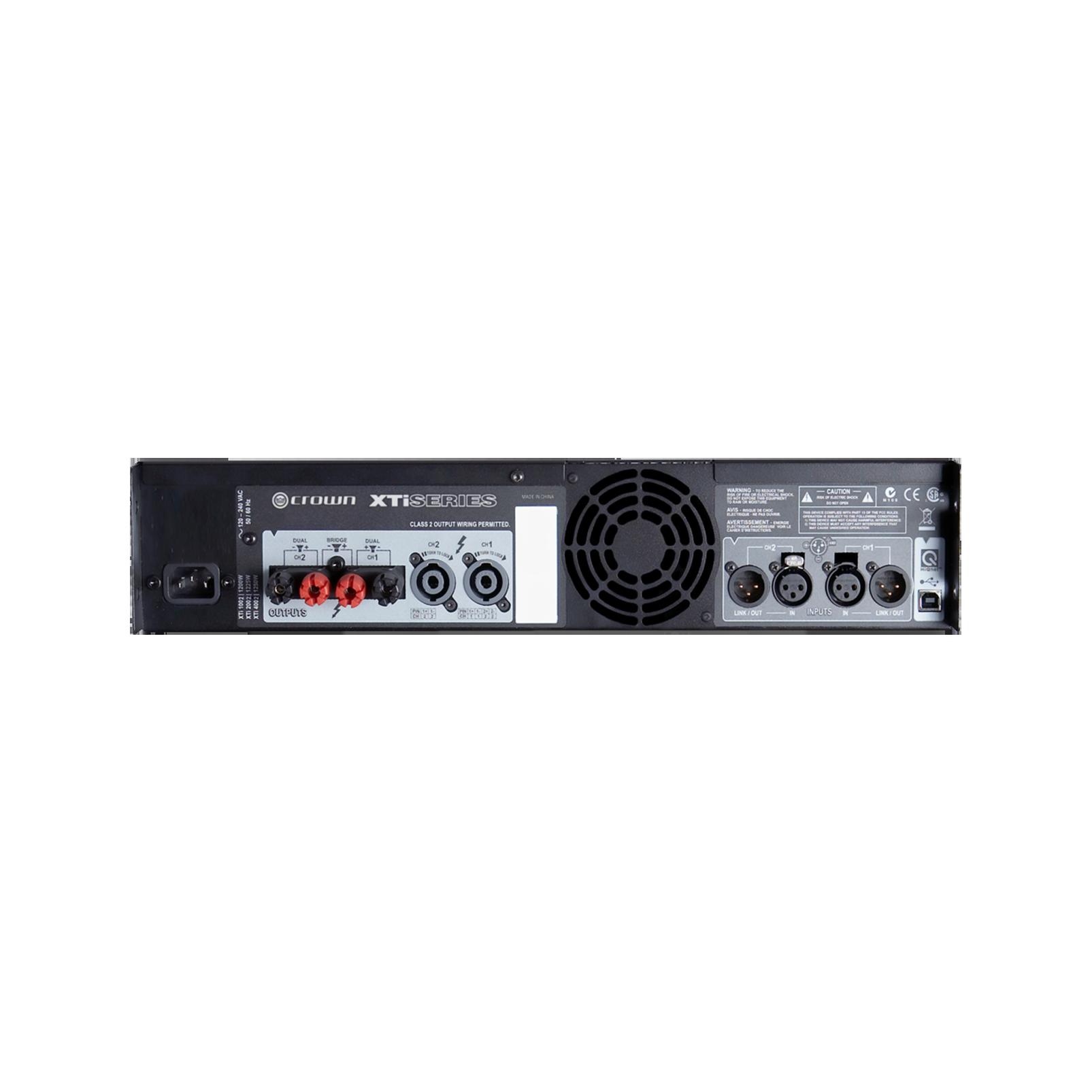 XTi 1002 - Grey - Two-channel, 500W power amplifier - Back