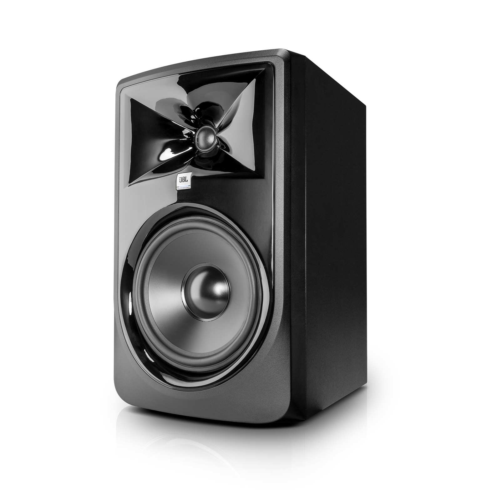 "JBL 308P MkII - Black - Powered 8"" Two-Way Studio Monitor - Hero"