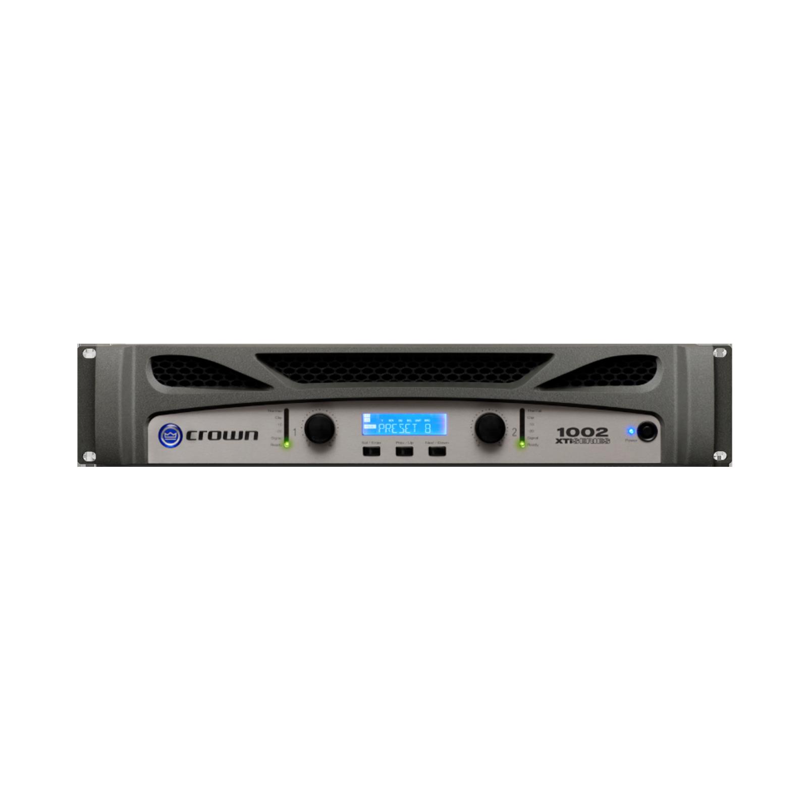 XTi 1002 - Grey - Two-channel, 500W power amplifier - Hero