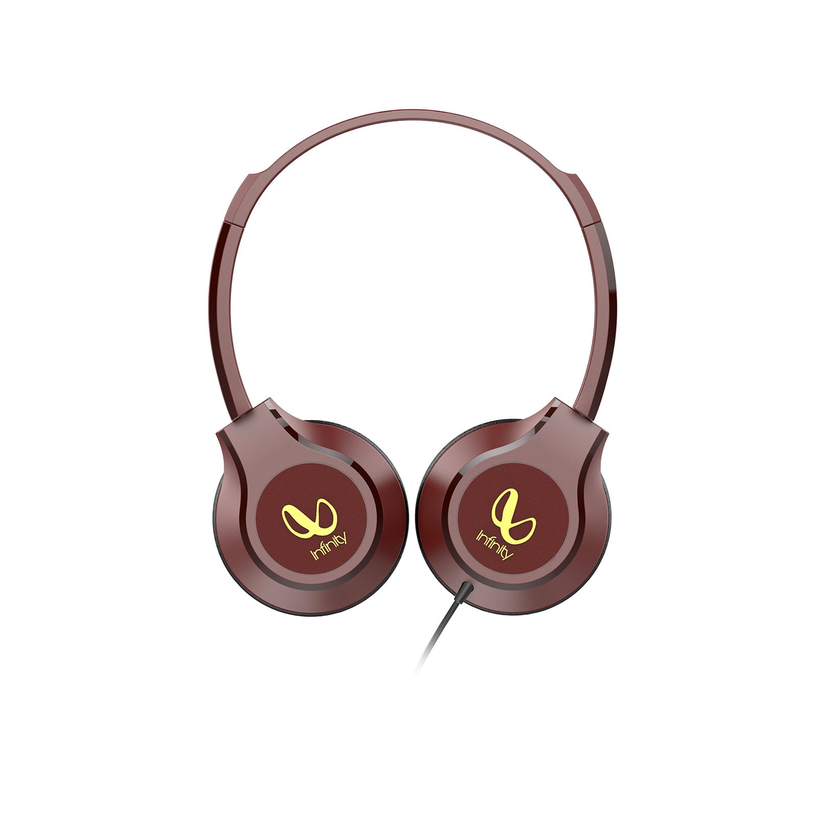 INFINITY ZIP 500 - Red - On-Ear Wired Headphones - Left