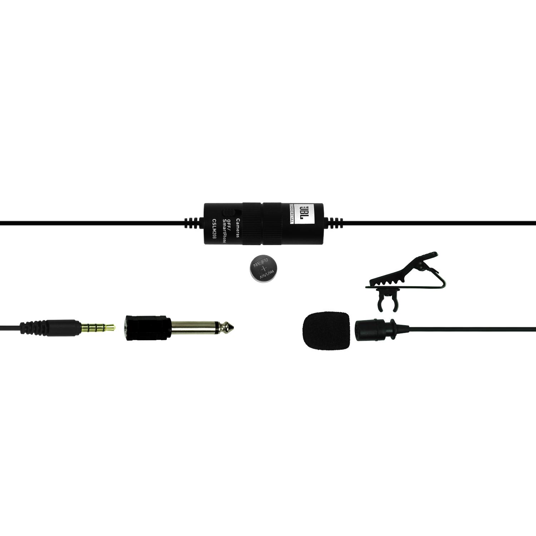 JBLCSLM20B - Black - Battery-Powered Lavalier Microphone - Detailshot 3