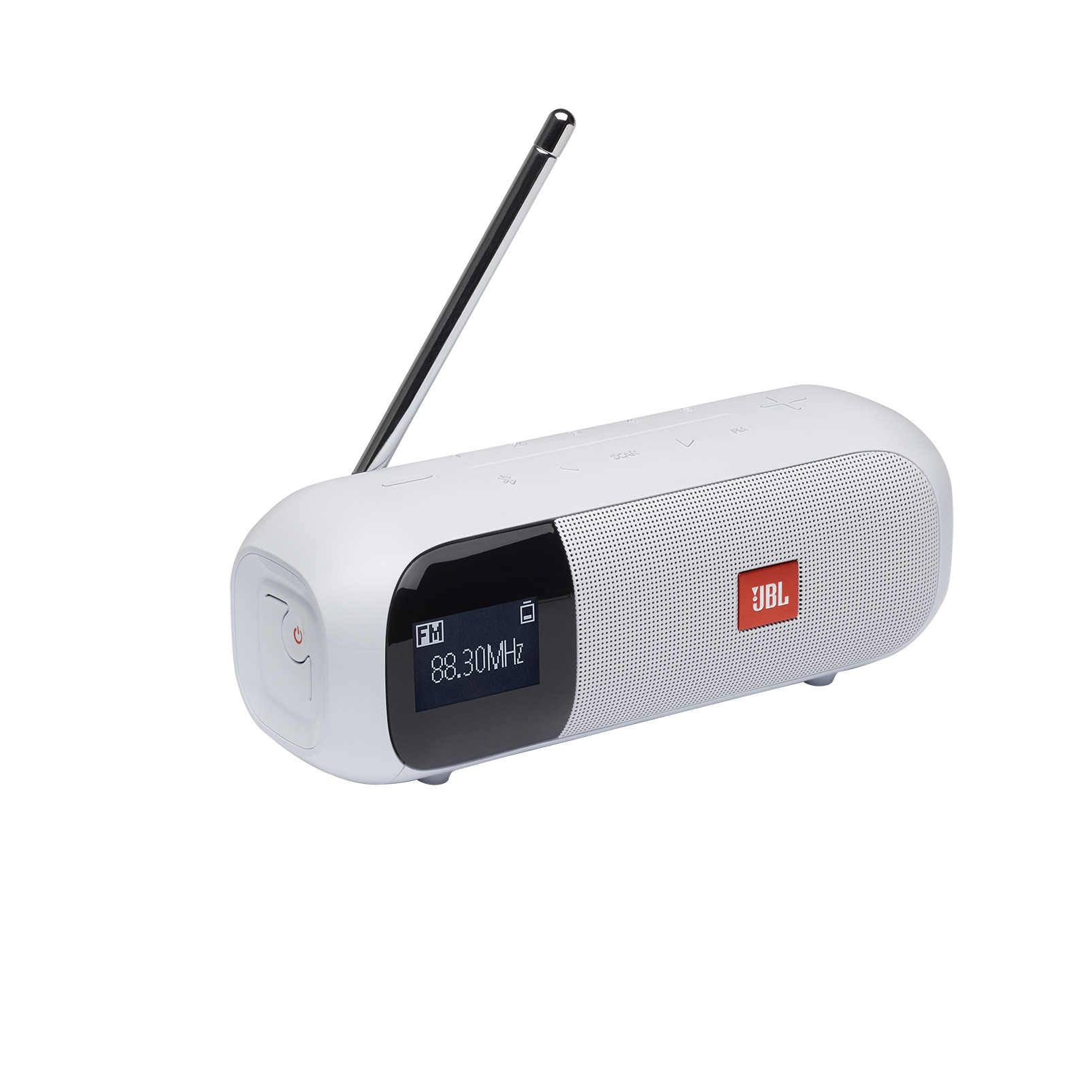 JBL Tuner 2 FM - White - Portable FM radio with Bluetooth - Hero