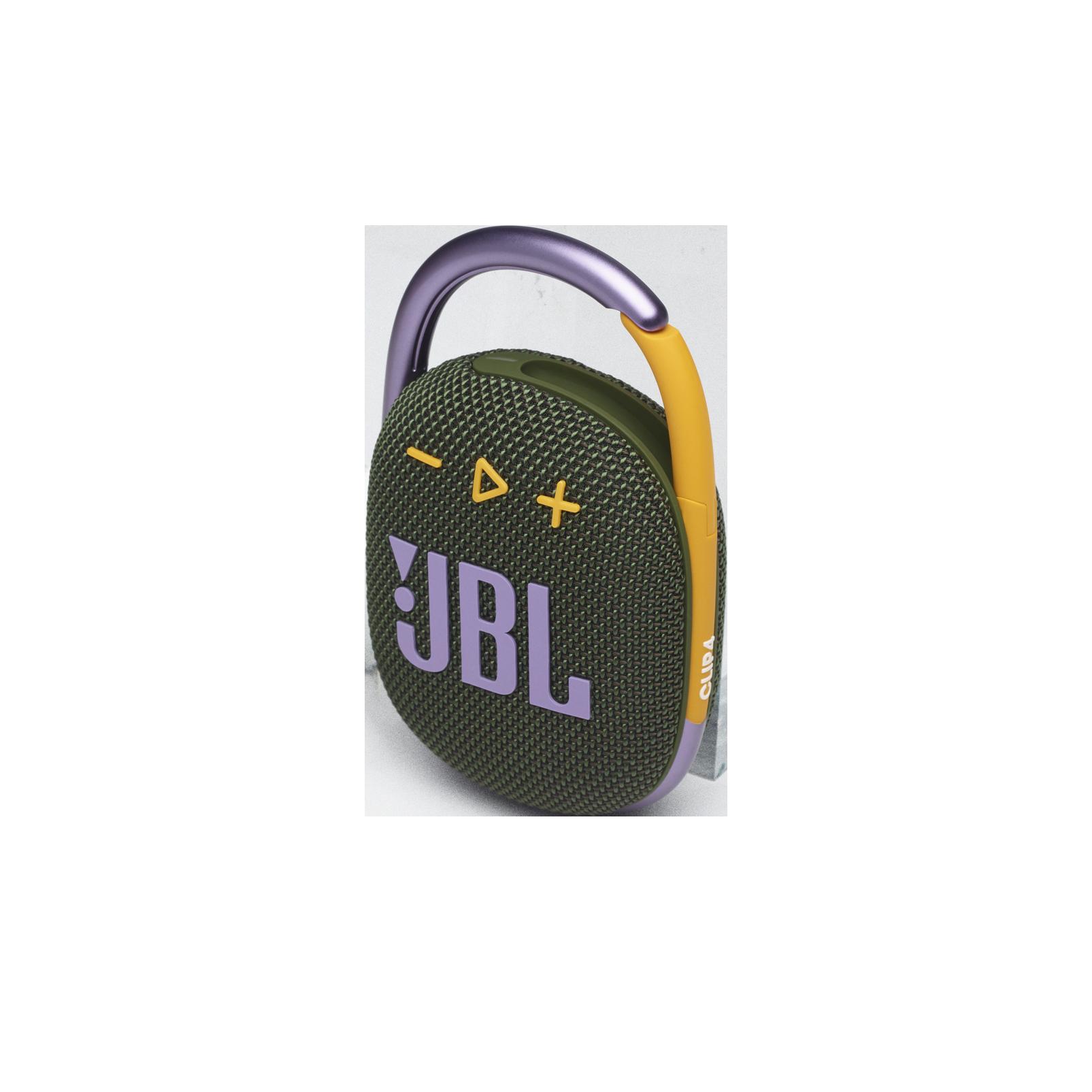 JBL CLIP 4 - Green - Ultra-portable Waterproof Speaker - Detailshot 2