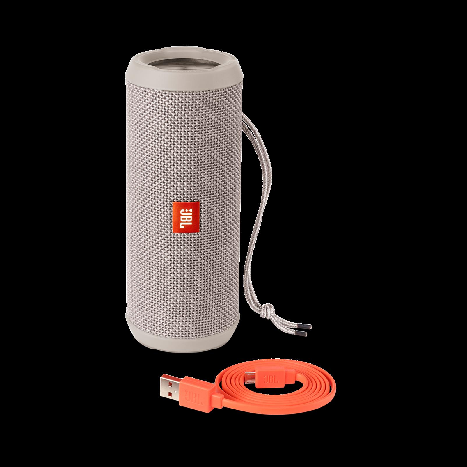 JBL Flip 3 - Grey - Splashproof portable Bluetooth speaker with powerful sound and speakerphone technology - Detailshot 4