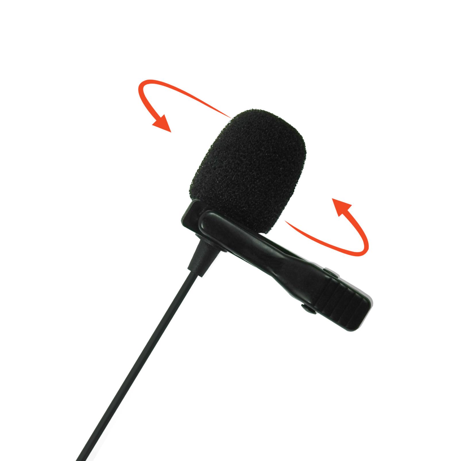 JBLCSLM20B - Black - Battery-Powered Lavalier Microphone - Detailshot 1