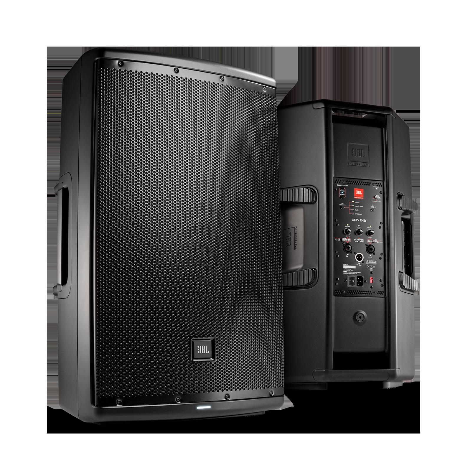 "JBL EON615 - Black - 15"" (38 cm) Two-Way Multipurpose Self-Powered Sound Reinforcement - Hero"