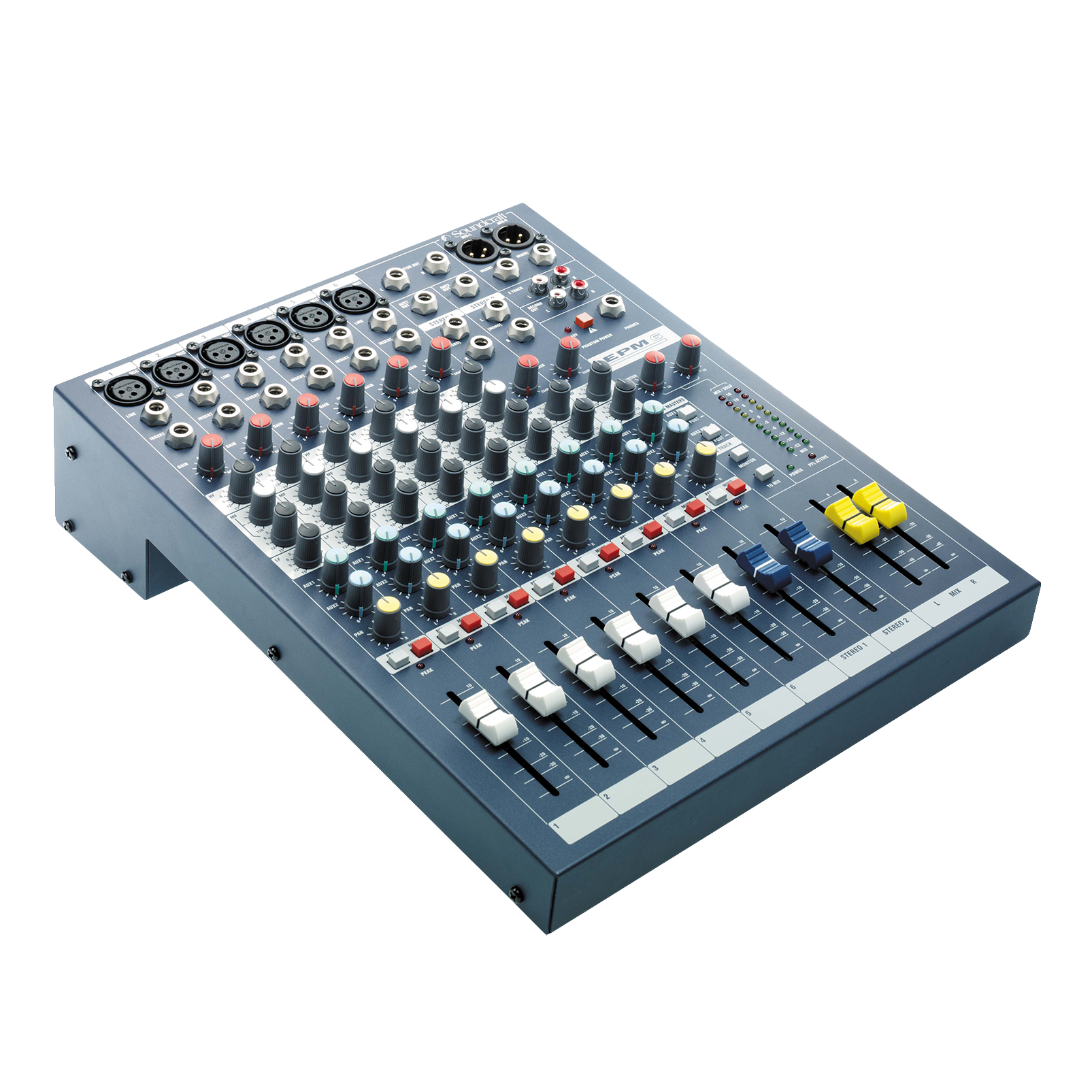 EPM6 - Dark Blue - A multipurpose mixer that carries the hallmarks of Soundcraft's professional heritage. - Hero