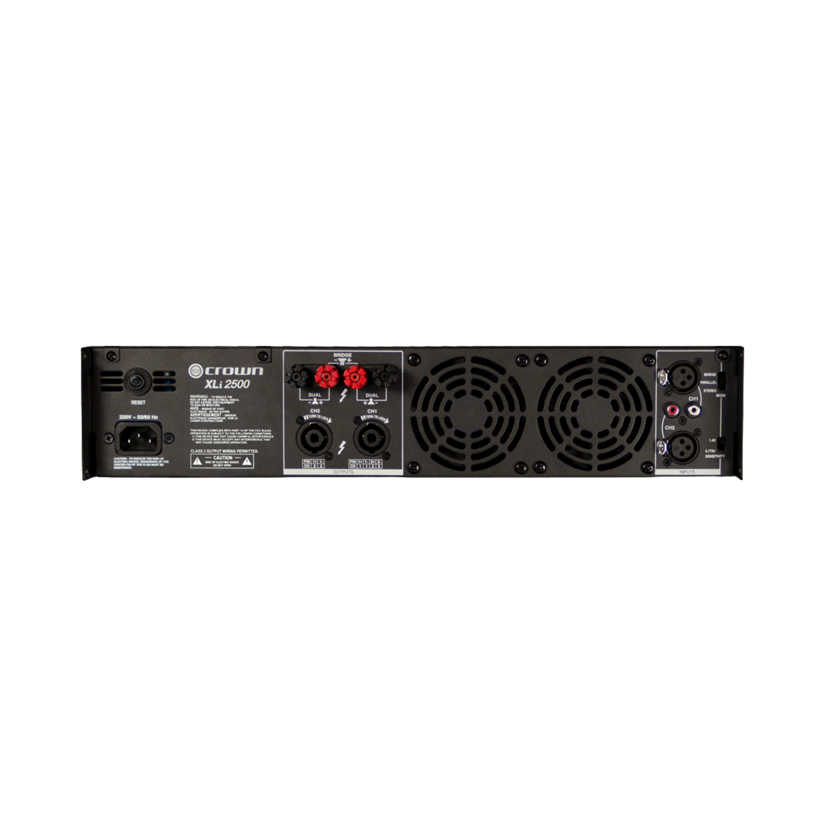 XLi 2500 - Grey - Two-channel, 750W @ 4Ω power amplifier - Back