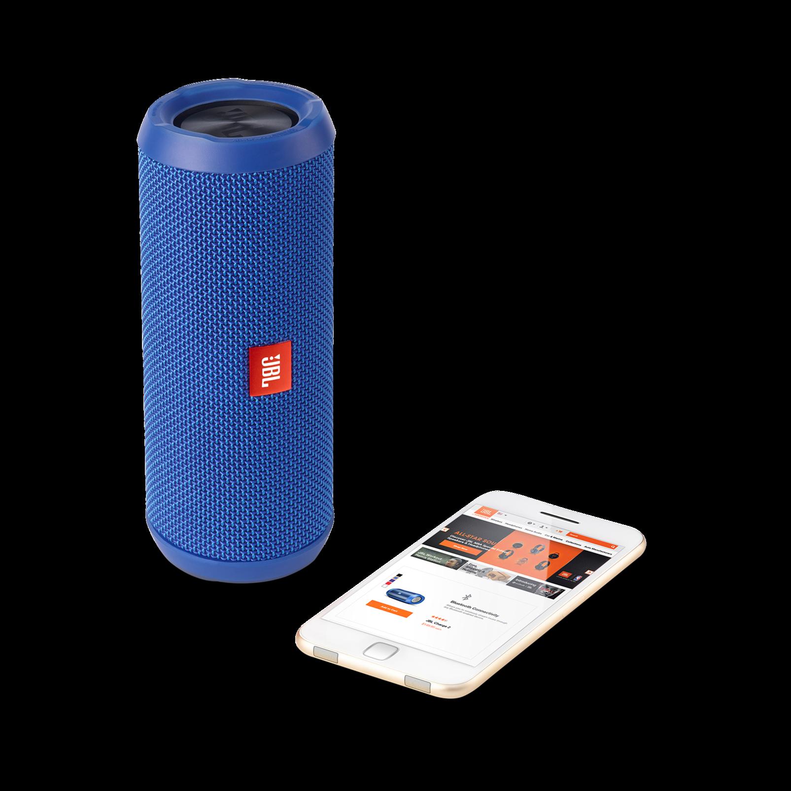 JBL Flip 3 - Blue - Splashproof portable Bluetooth speaker with powerful sound and speakerphone technology - Detailshot 1