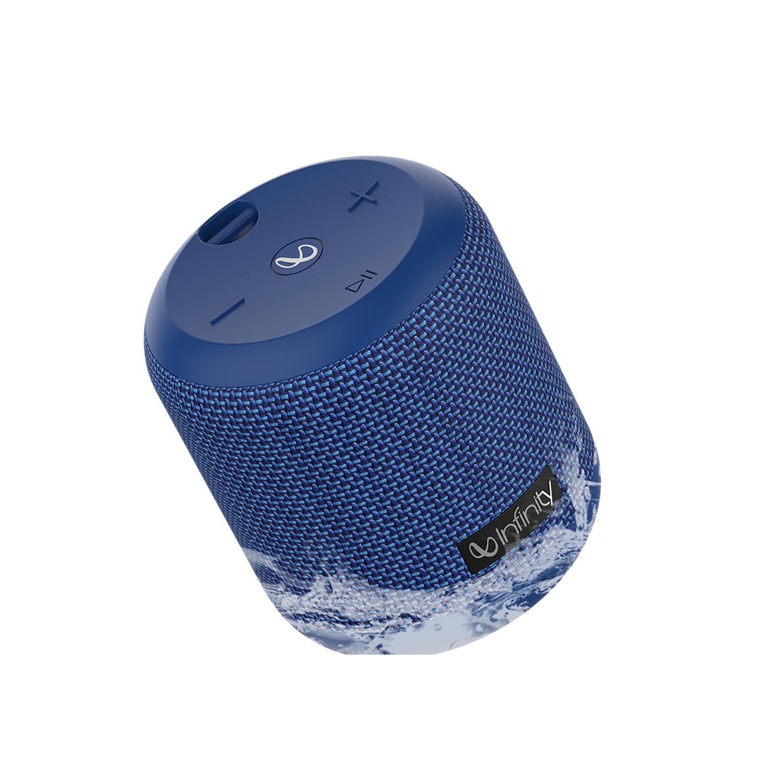 INFINITY FUZE 100 - Blue - Portable Wireless Speaker - Hero