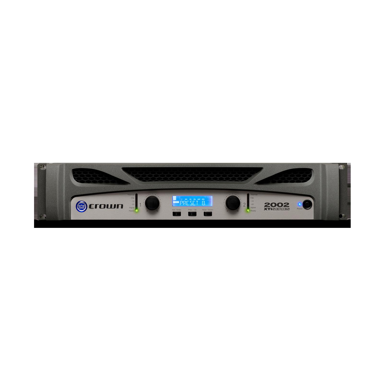 XTi 2002 - Grey - Two-channel, 800W @ 4Ω power amplifier - Hero