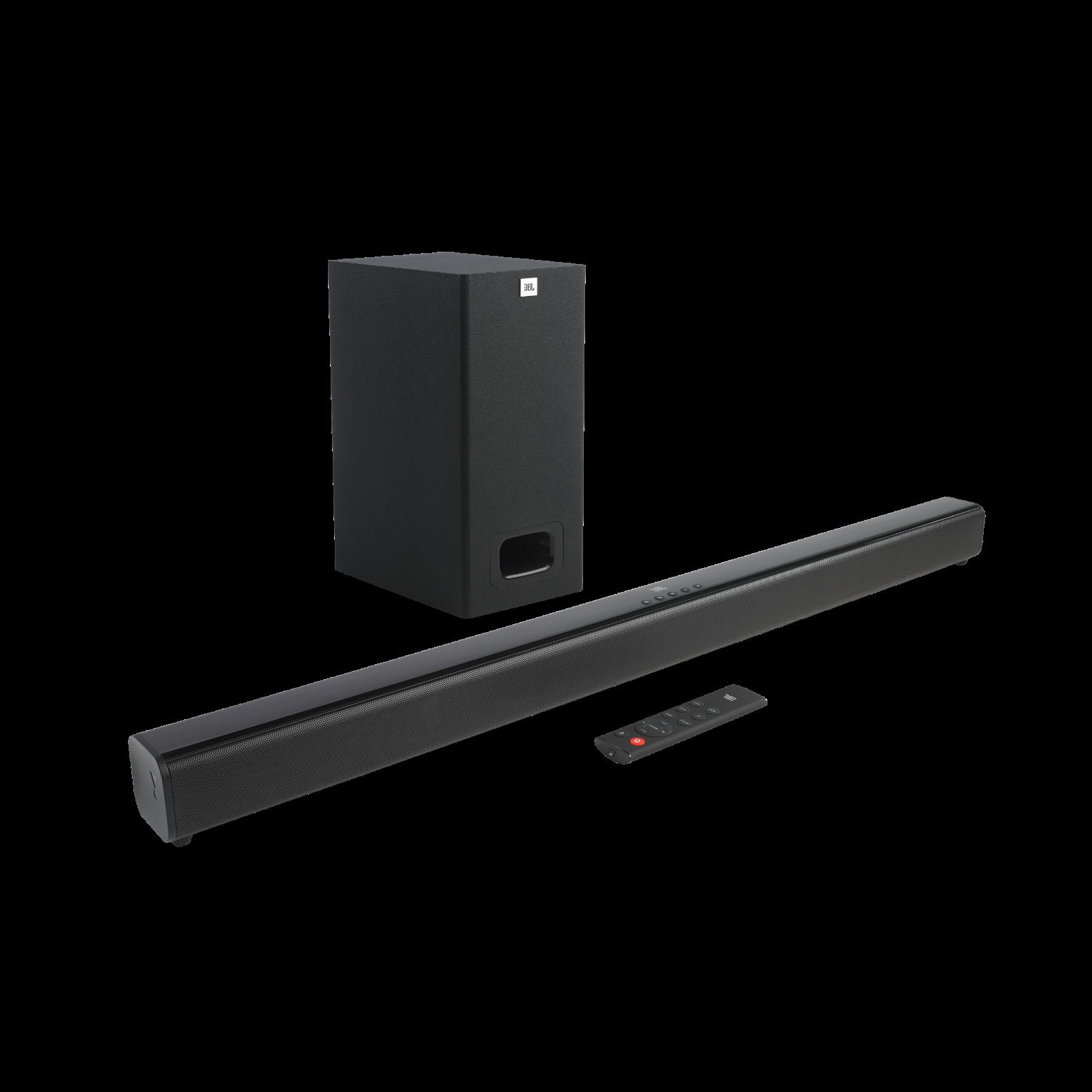 JBL Cinema SB230 - Black - 2.1 Channel Soundbar with Wired Subwoofer - Hero