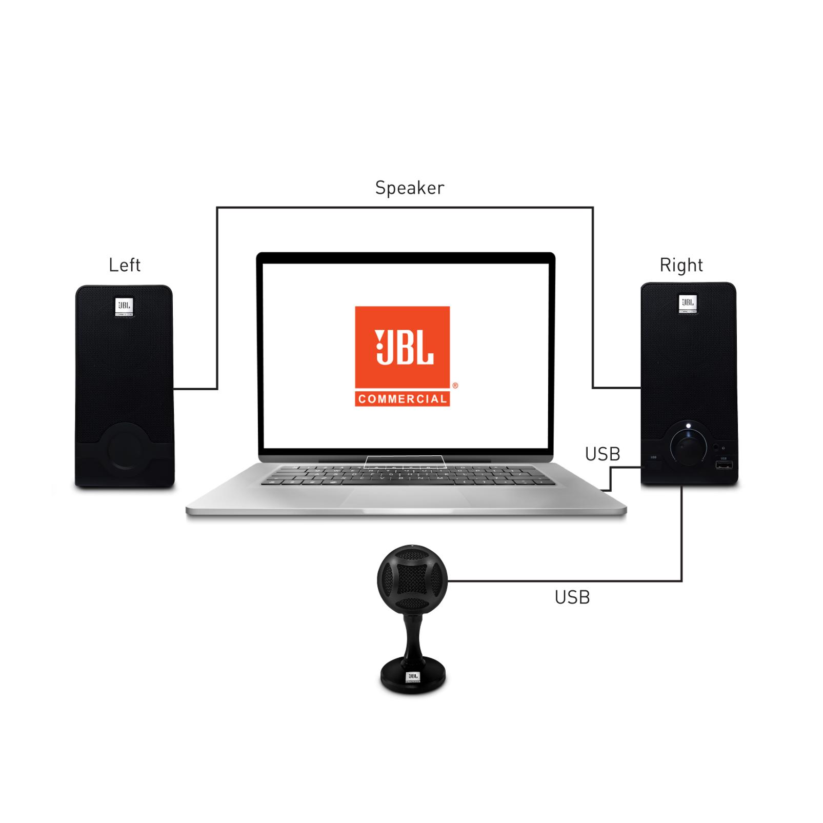 WFH100 - Black - USB powered speakers and Mini USB Microphone Bundle - Detailshot 1
