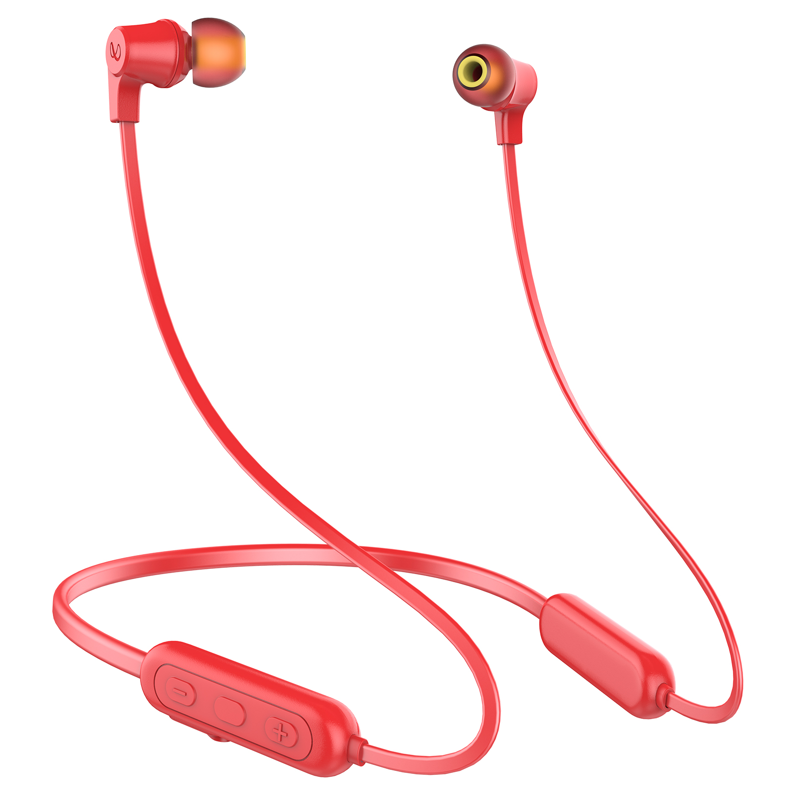 INFINITY GLIDE N100 - Red - In-Ear Ultra Light Neckband - Front