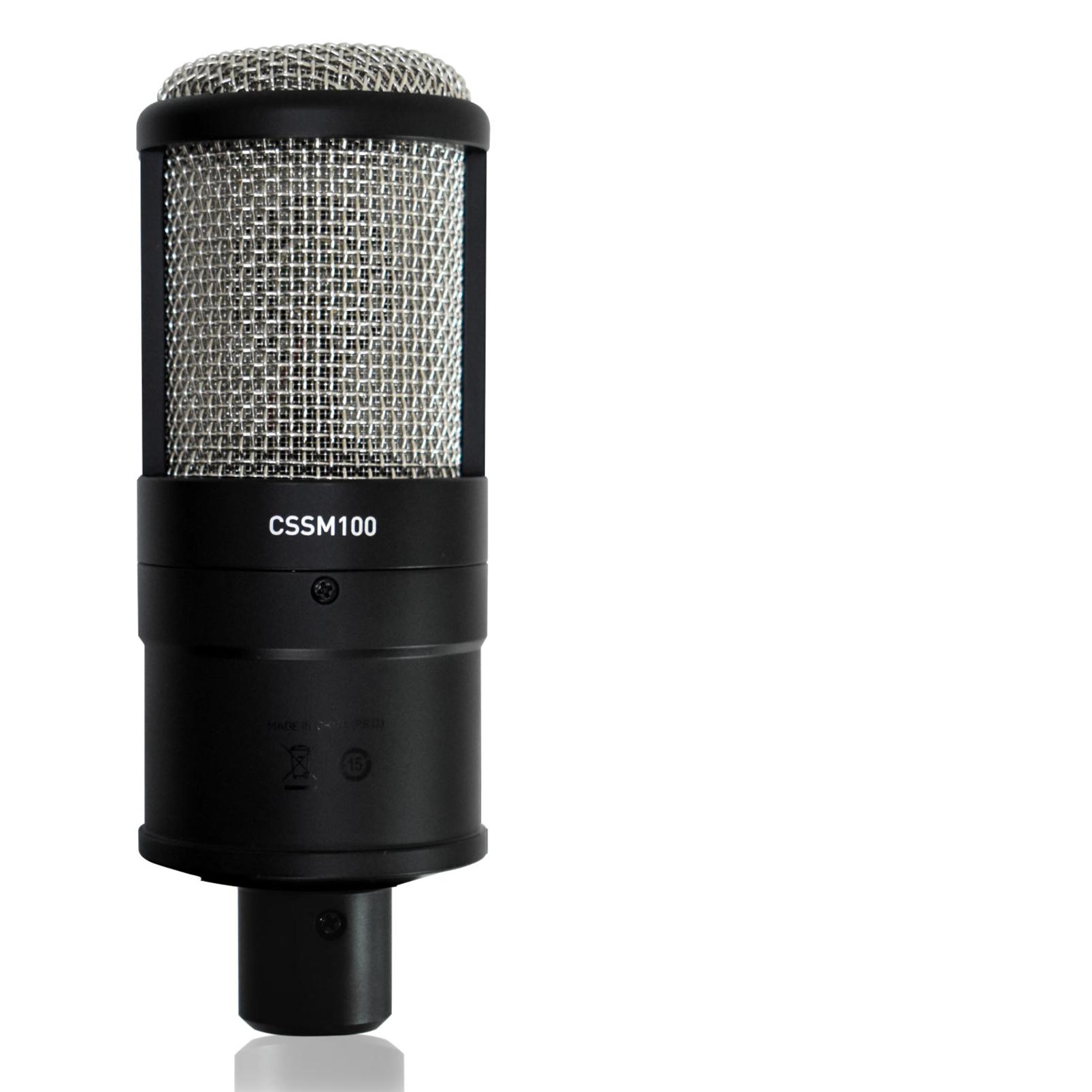CSSM100 - Black - Studio Condenser Microphone - Detailshot 2