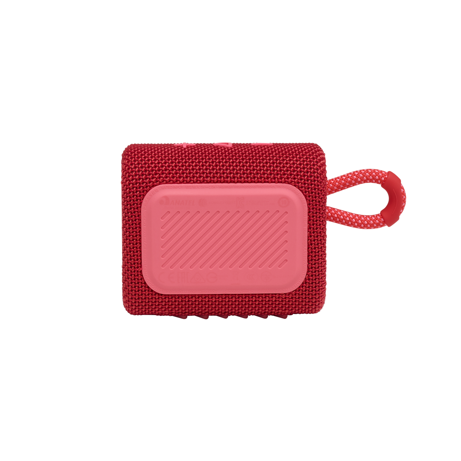 JBL GO 3 - Red - Portable Waterproof Speaker - Back