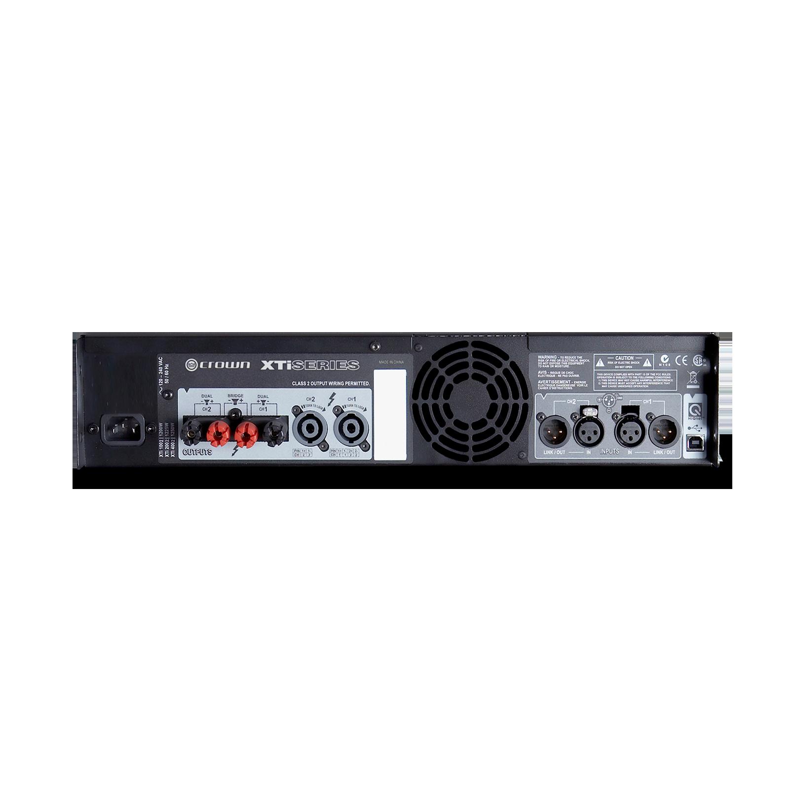 XTi 2002 - Grey - Two-channel, 800W @ 4Ω power amplifier - Back